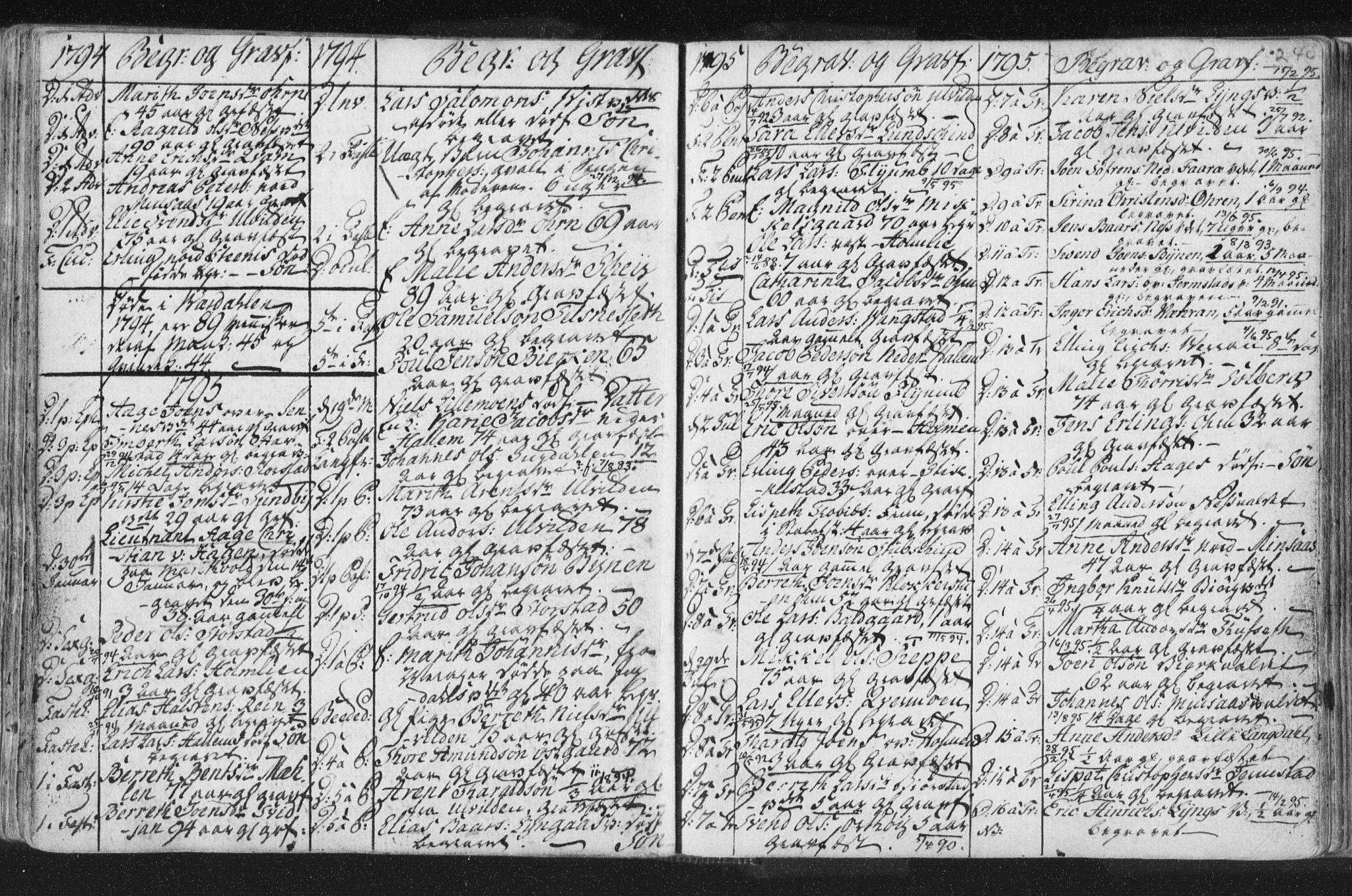 SAT, Ministerialprotokoller, klokkerbøker og fødselsregistre - Nord-Trøndelag, 723/L0232: Ministerialbok nr. 723A03, 1781-1804, s. 240