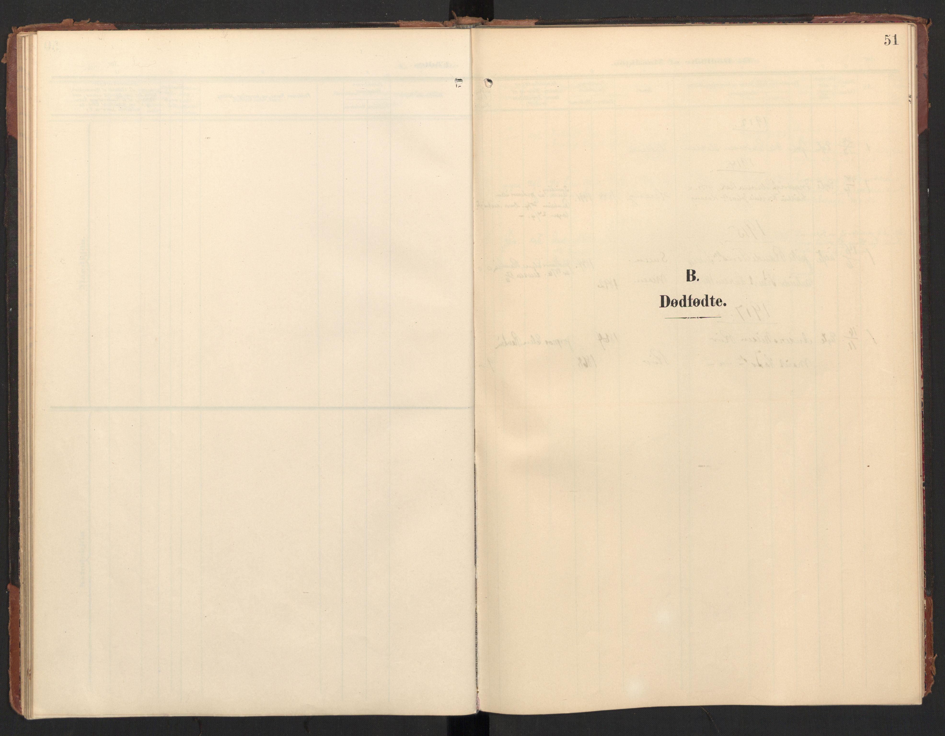 SAT, Ministerialprotokoller, klokkerbøker og fødselsregistre - Møre og Romsdal, 597/L1063: Ministerialbok nr. 597A02, 1905-1923, s. 51