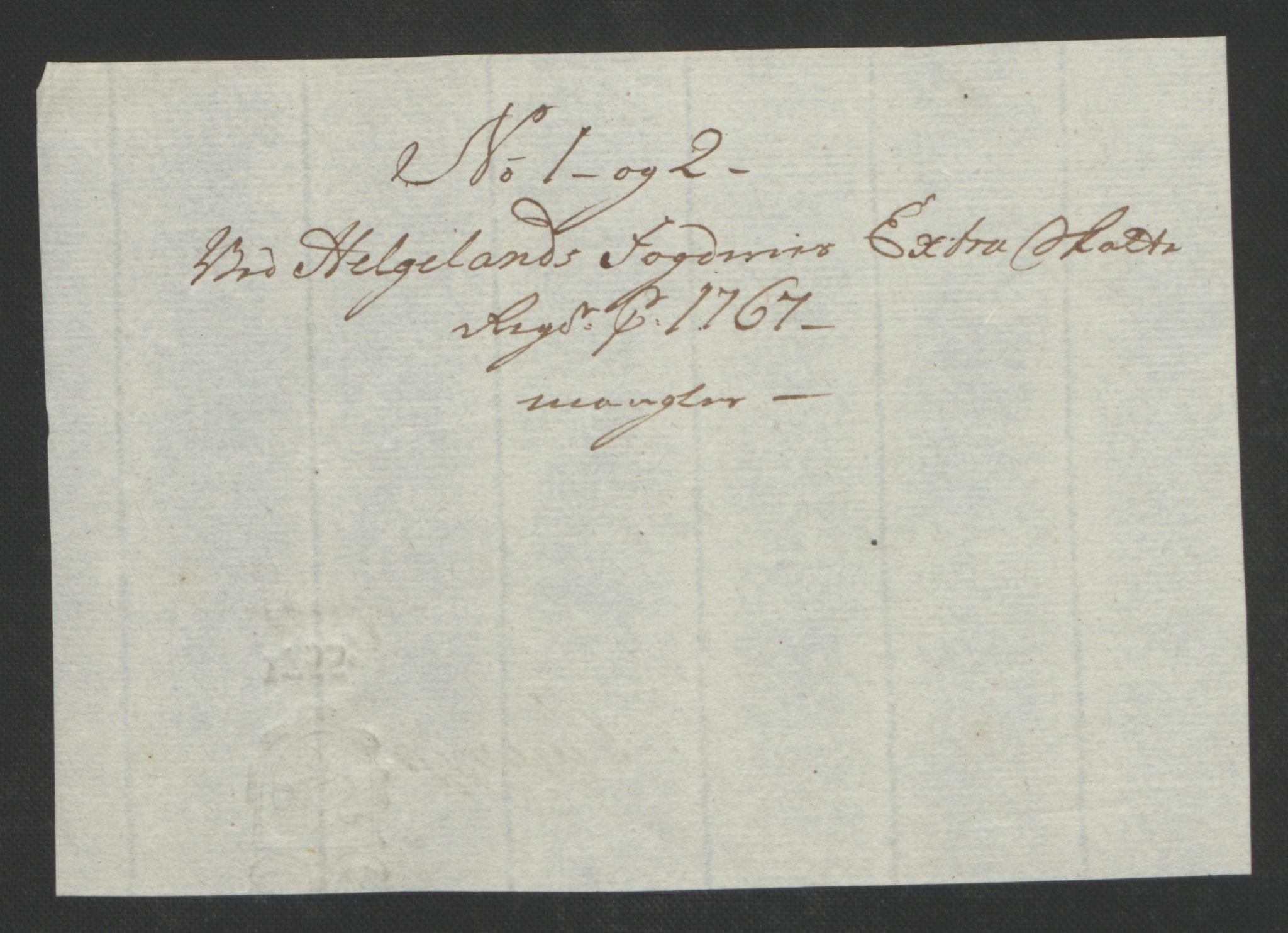 RA, Rentekammeret inntil 1814, Reviderte regnskaper, Fogderegnskap, R65/L4573: Ekstraskatten Helgeland, 1762-1772, s. 152