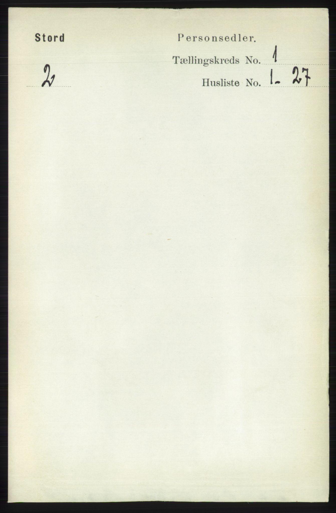 RA, Folketelling 1891 for 1221 Stord herred, 1891, s. 46