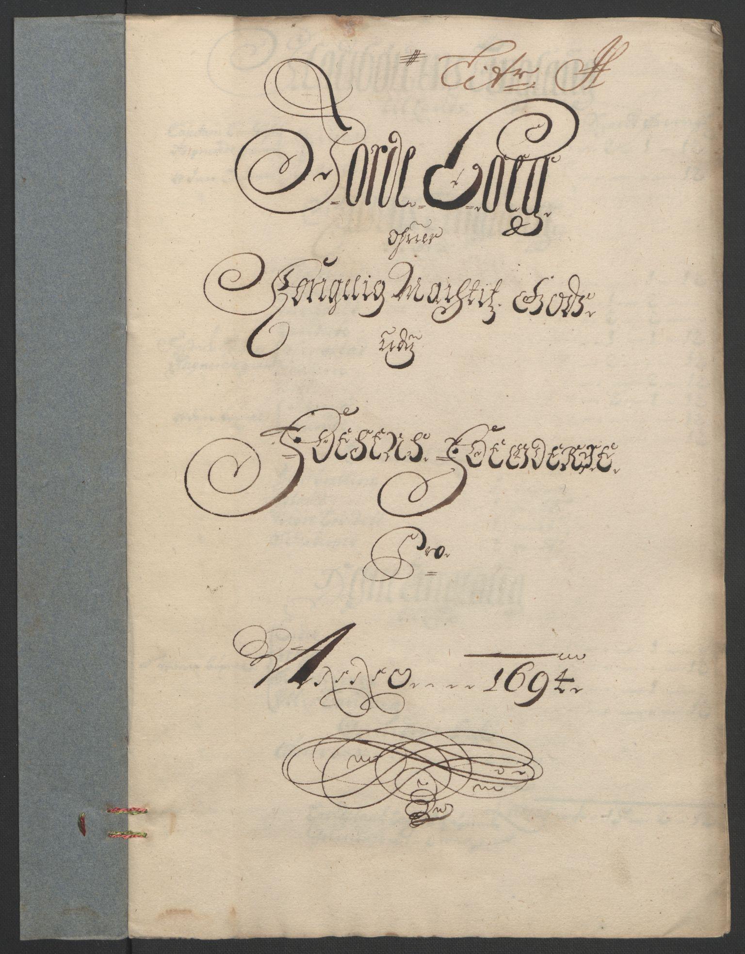 RA, Rentekammeret inntil 1814, Reviderte regnskaper, Fogderegnskap, R57/L3850: Fogderegnskap Fosen, 1694, s. 125