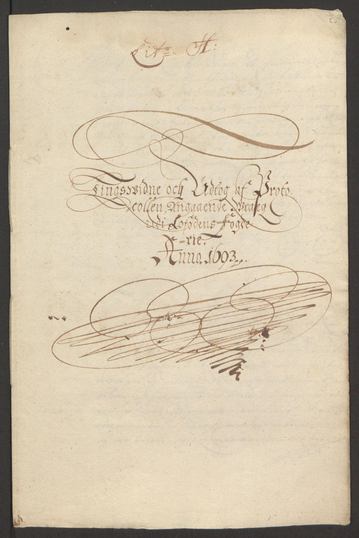 RA, Rentekammeret inntil 1814, Reviderte regnskaper, Fogderegnskap, R67/L4675: Fogderegnskap Vesterålen, Andenes og Lofoten, 1691-1693, s. 279