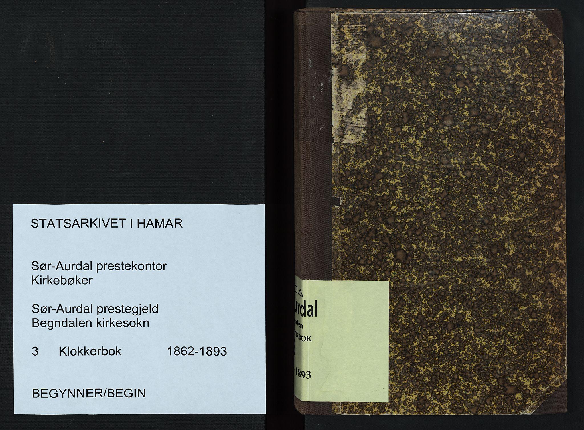 SAH, Sør-Aurdal prestekontor, Klokkerbok nr. 3, 1862-1893