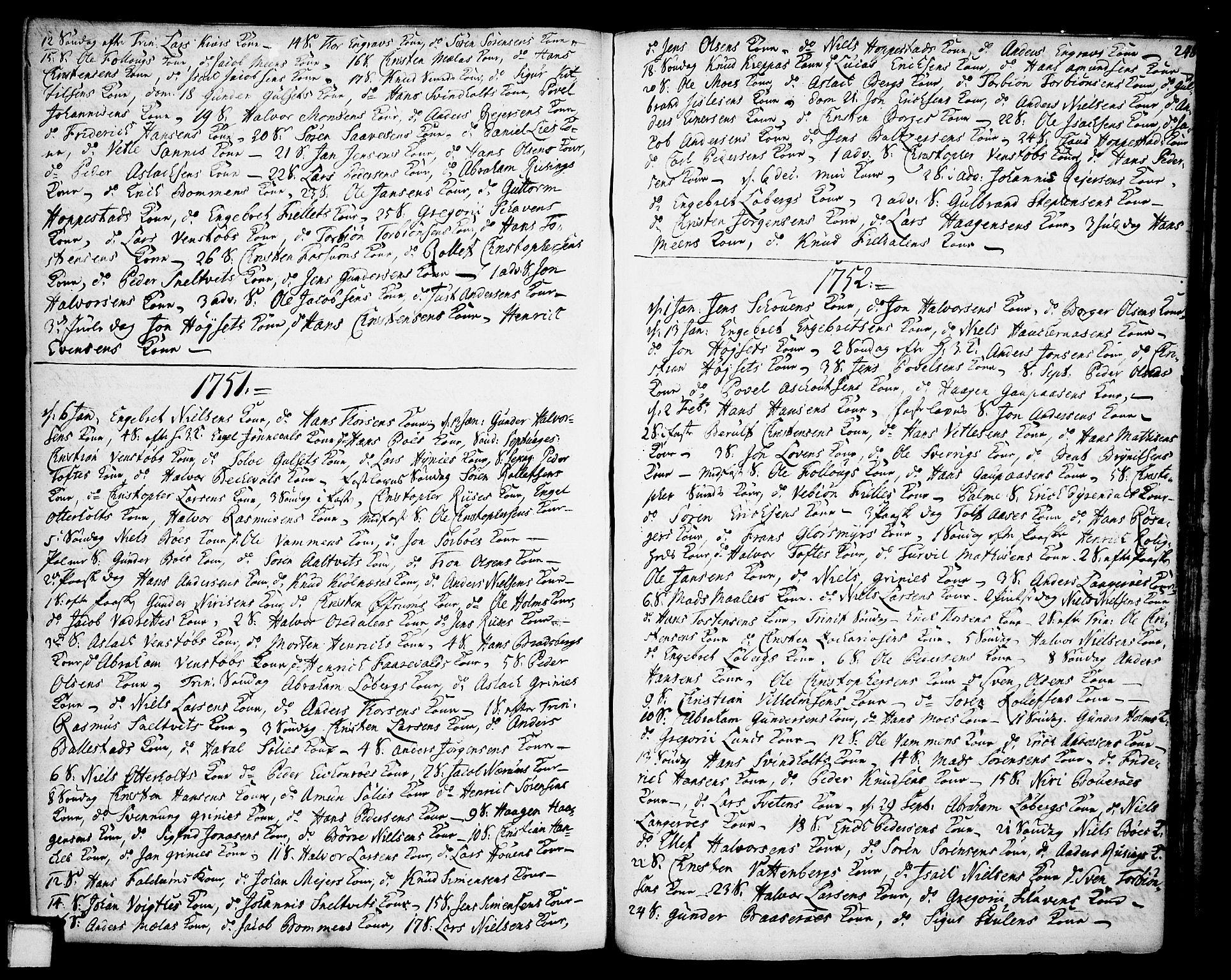 SAKO, Gjerpen kirkebøker, F/Fa/L0002: Ministerialbok nr. 2, 1747-1795, s. 248