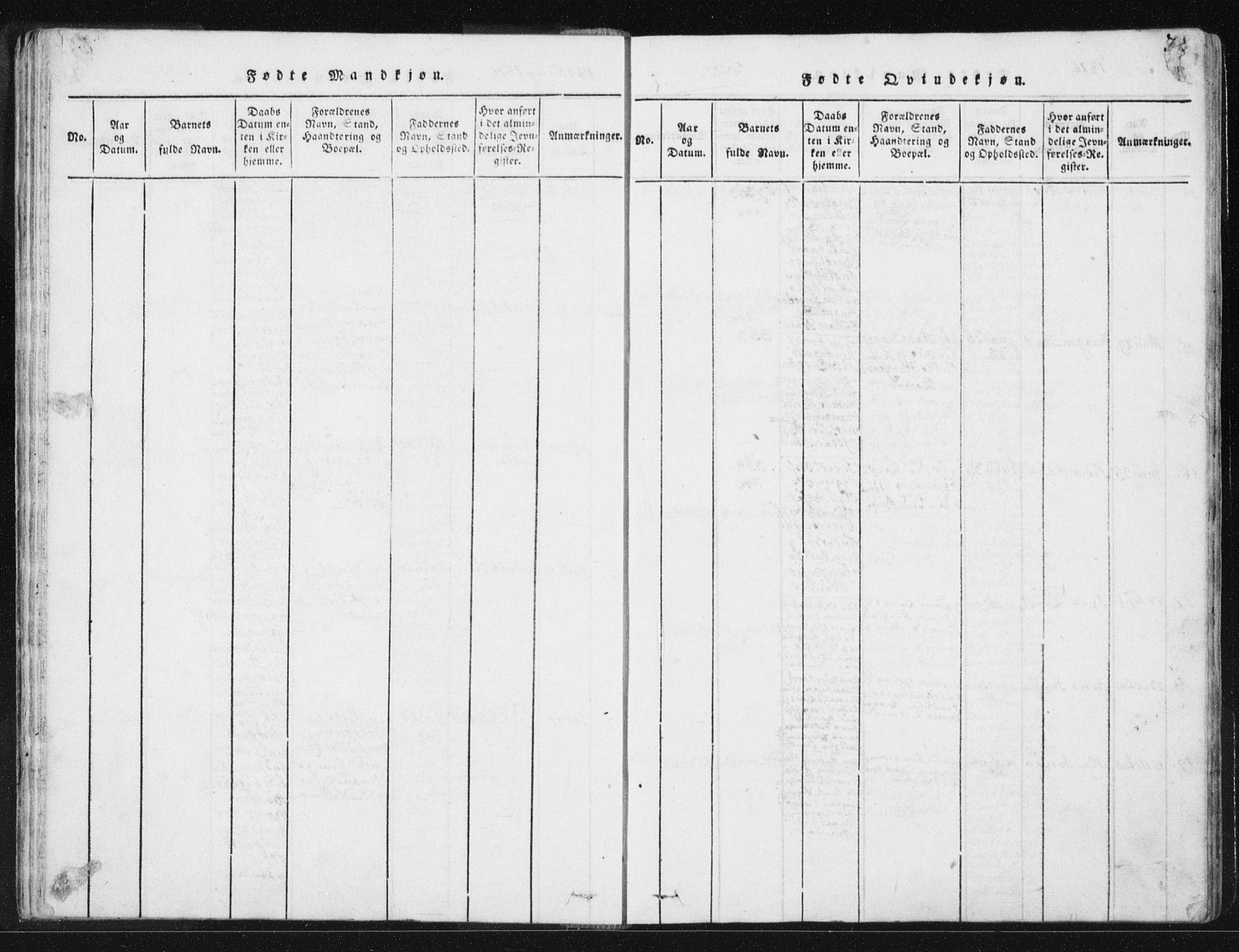 SAT, Ministerialprotokoller, klokkerbøker og fødselsregistre - Sør-Trøndelag, 665/L0770: Ministerialbok nr. 665A05, 1817-1829, s. 38