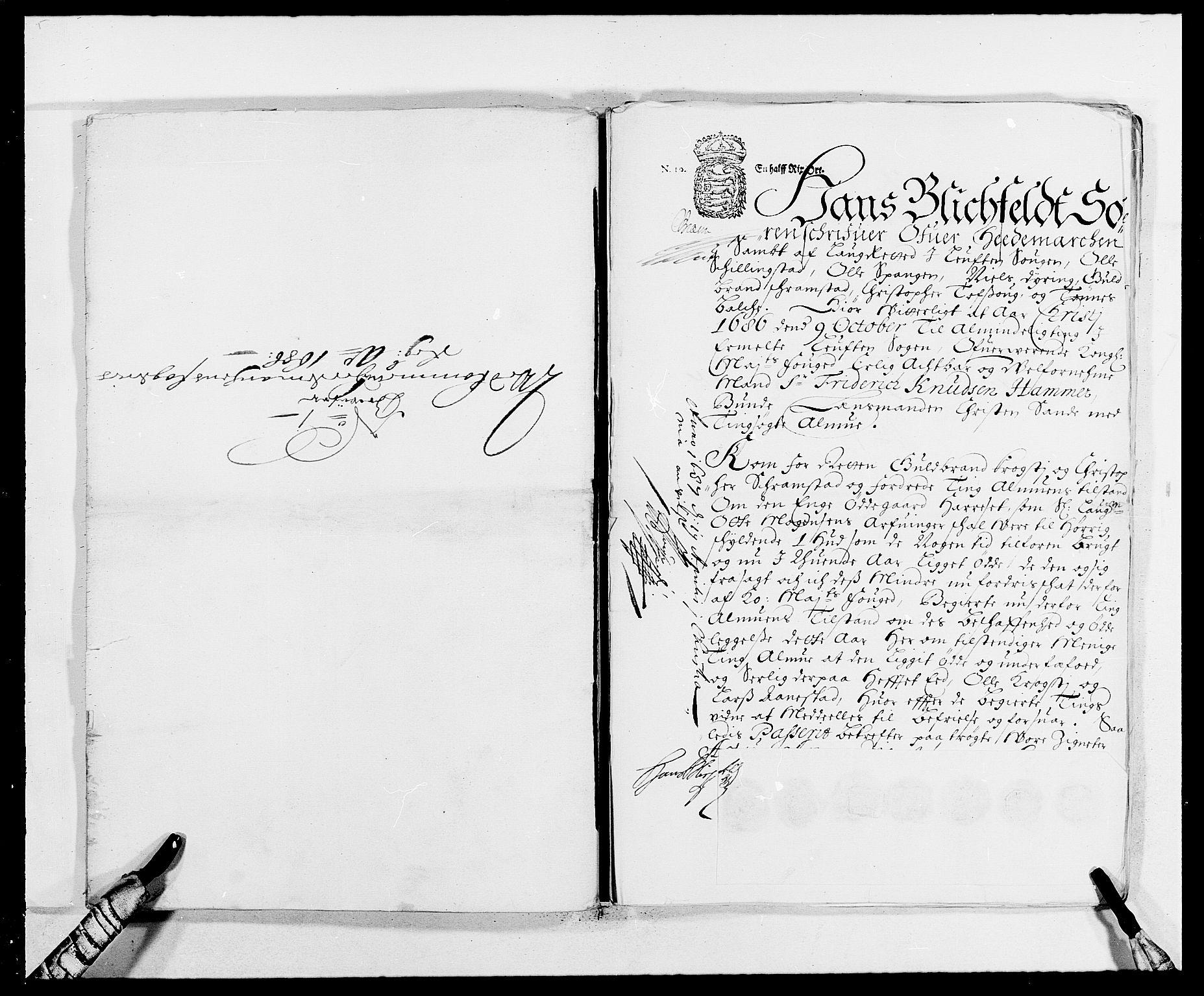 RA, Rentekammeret inntil 1814, Reviderte regnskaper, Fogderegnskap, R16/L1027: Fogderegnskap Hedmark, 1686, s. 388