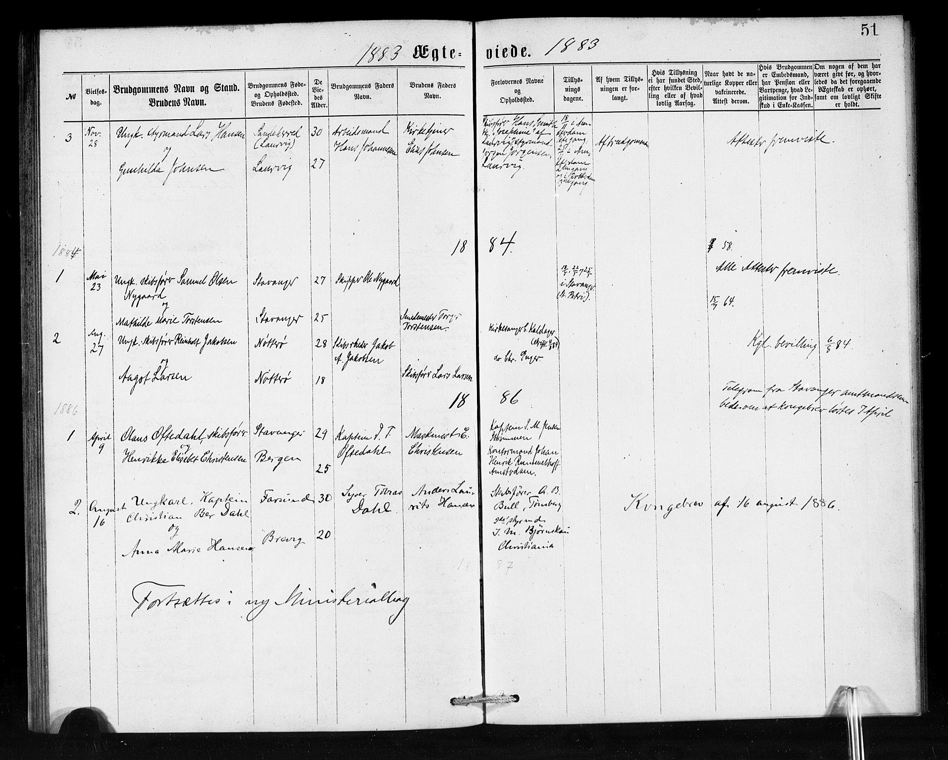 SAB, Den Norske Sjømannsmisjon i utlandet*, Ministerialbok nr. A 1, 1876-1887, s. 51