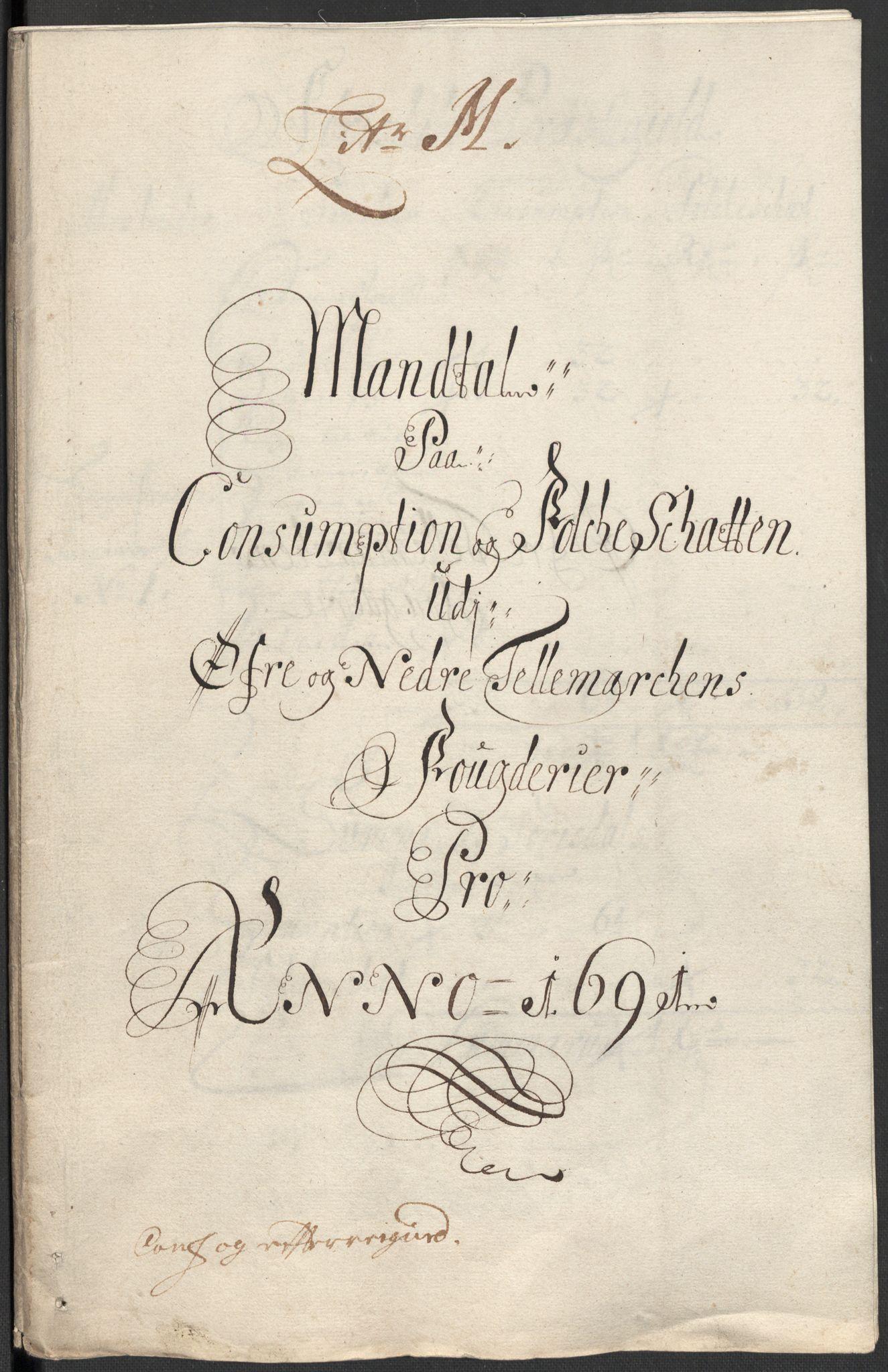 RA, Rentekammeret inntil 1814, Reviderte regnskaper, Fogderegnskap, R35/L2089: Fogderegnskap Øvre og Nedre Telemark, 1690-1692, s. 423