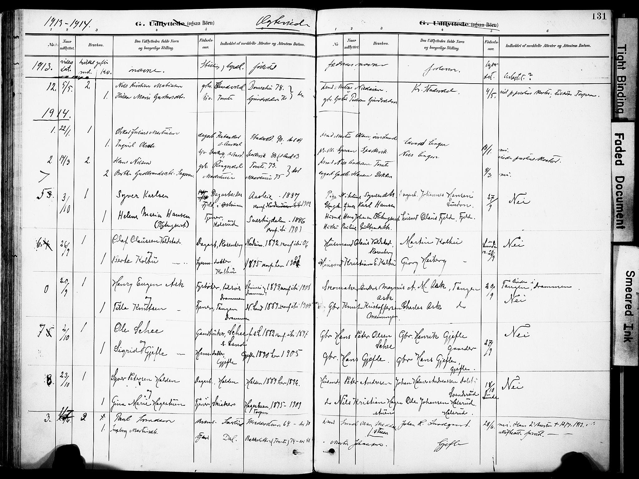 SAH, Nordre Land prestekontor, Ministerialbok nr. 6, 1897-1914, s. 131