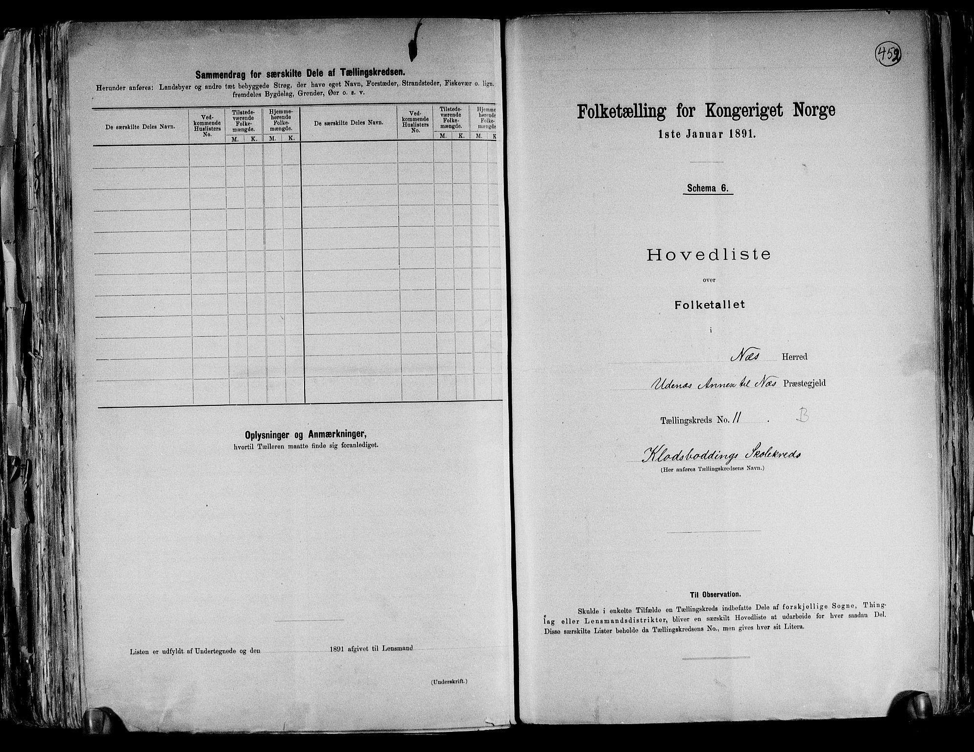 RA, Folketelling 1891 for 0236 Nes herred, 1891, s. 31