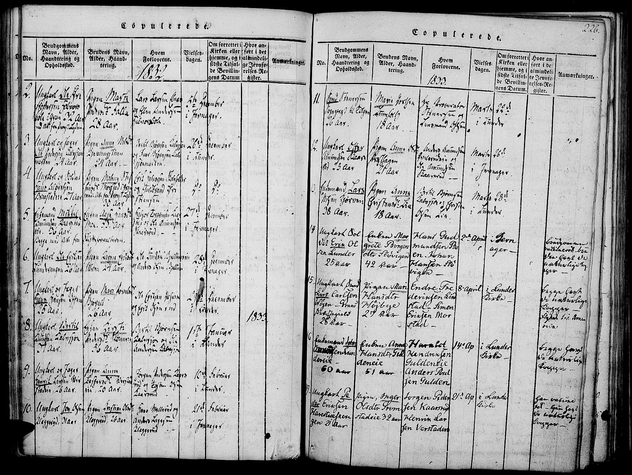 SAH, Jevnaker prestekontor, Ministerialbok nr. 5, 1815-1837, s. 226