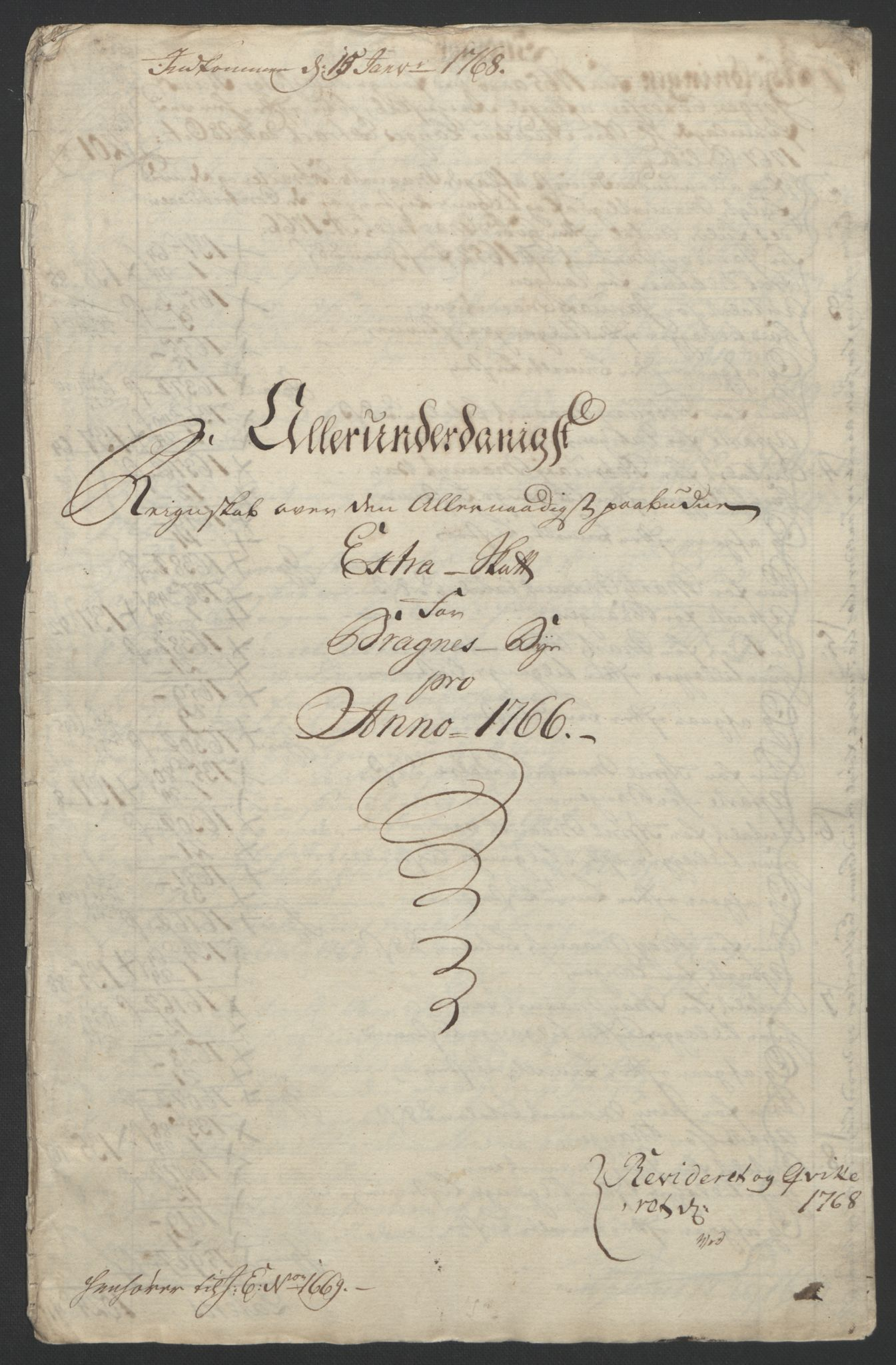 RA, Rentekammeret inntil 1814, Reviderte regnskaper, Byregnskaper, R/Rf/L0119: [F2] Kontribusjonsregnskap, 1762-1767, s. 353
