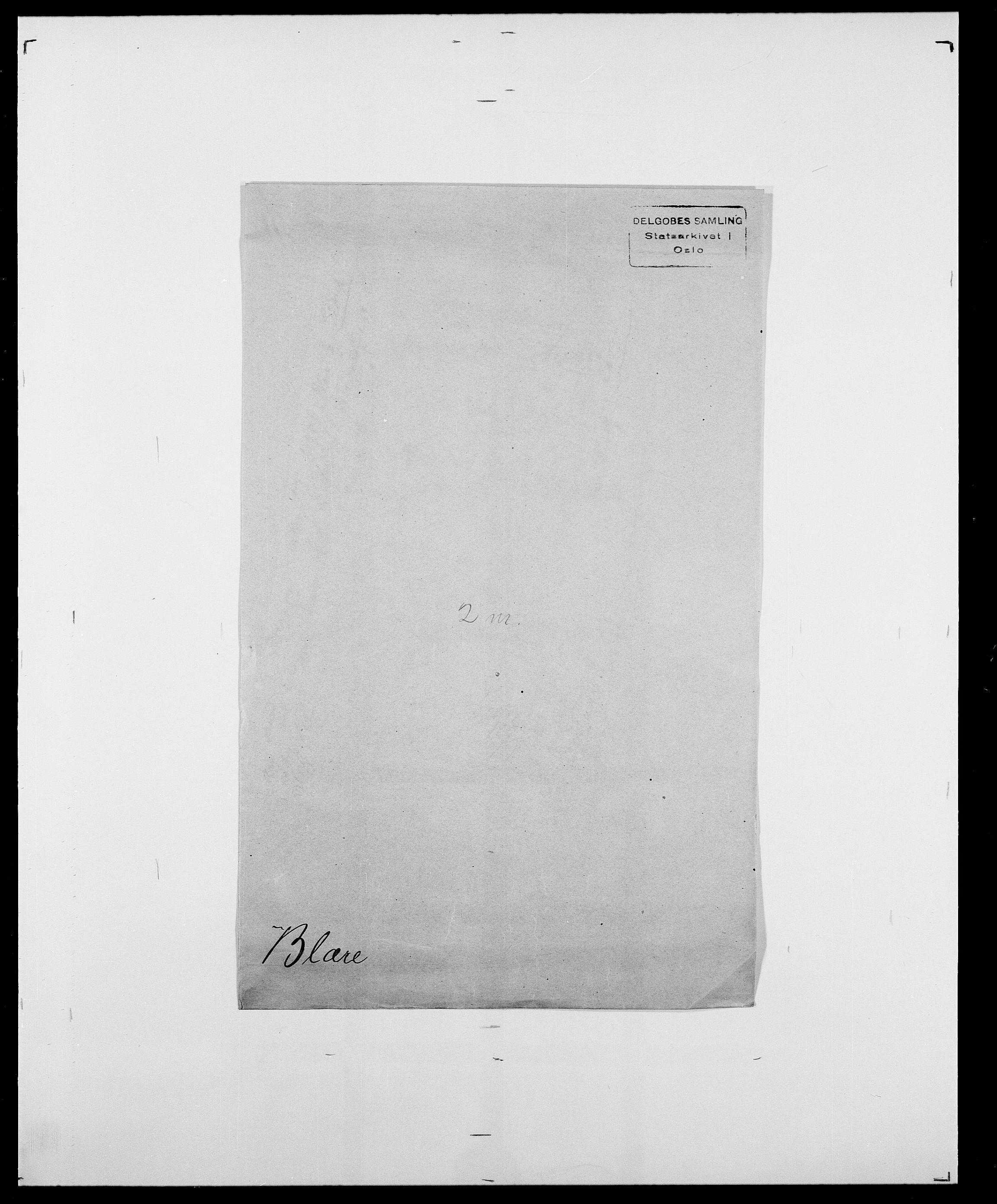 SAO, Delgobe, Charles Antoine - samling, D/Da/L0004: Bergendahl - Blære, s. 818