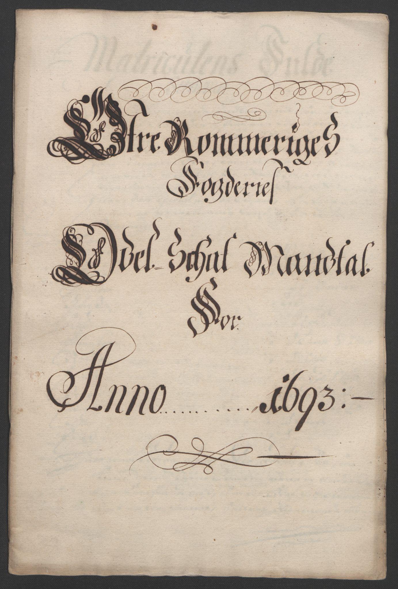 RA, Rentekammeret inntil 1814, Reviderte regnskaper, Fogderegnskap, R12/L0705: Fogderegnskap Øvre Romerike, 1693, s. 207