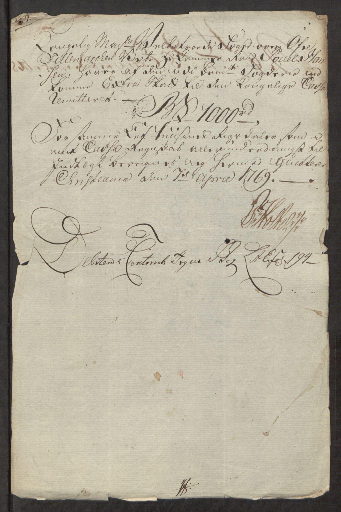 RA, Rentekammeret inntil 1814, Reviderte regnskaper, Fogderegnskap, R38/L2293: Ekstraskatten Øvre Telemark, 1762-1770, s. 110