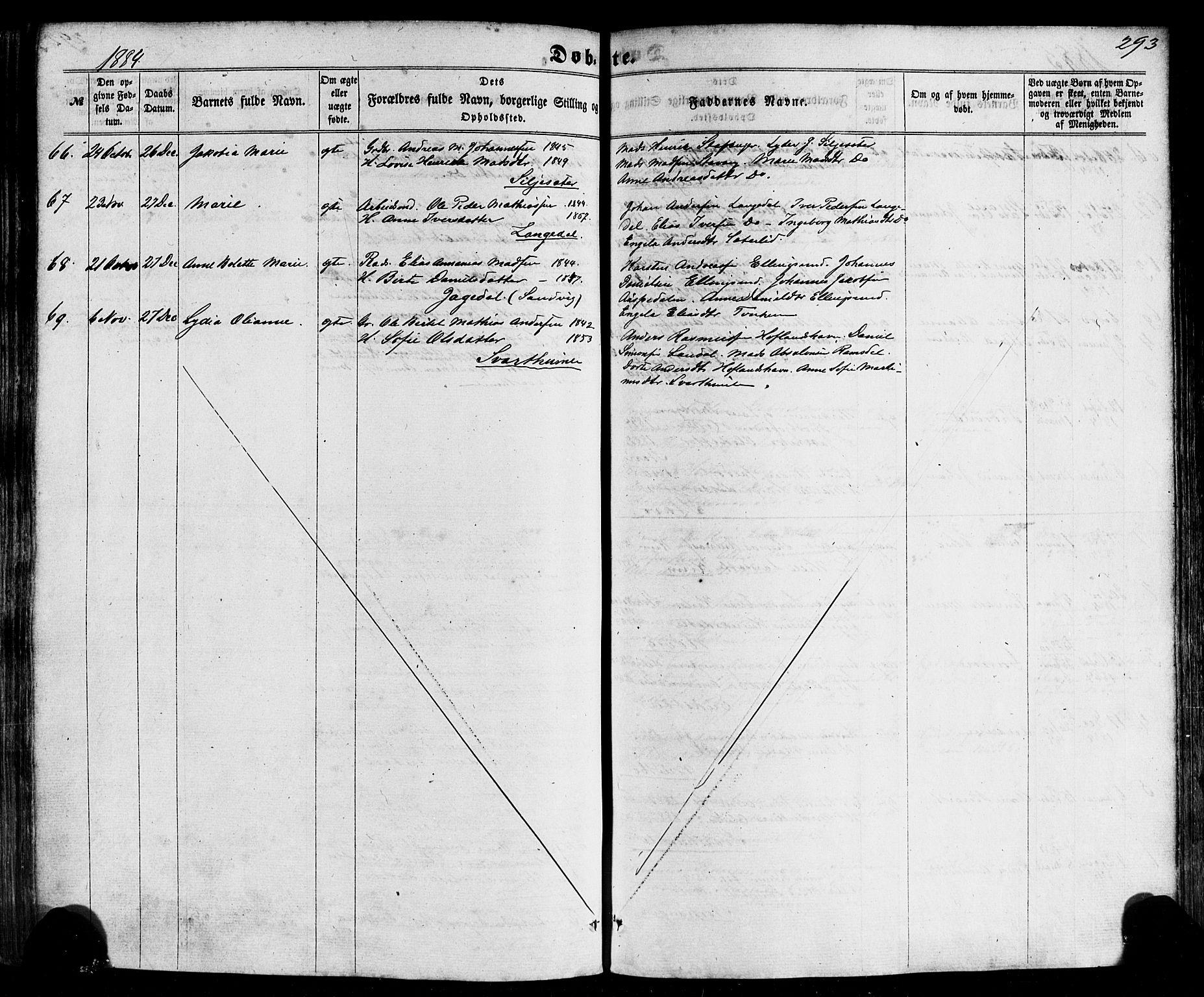 SAB, Kinn sokneprestembete, H/Haa/Haaa/L0006: Ministerialbok nr. A 6, 1857-1885, s. 293