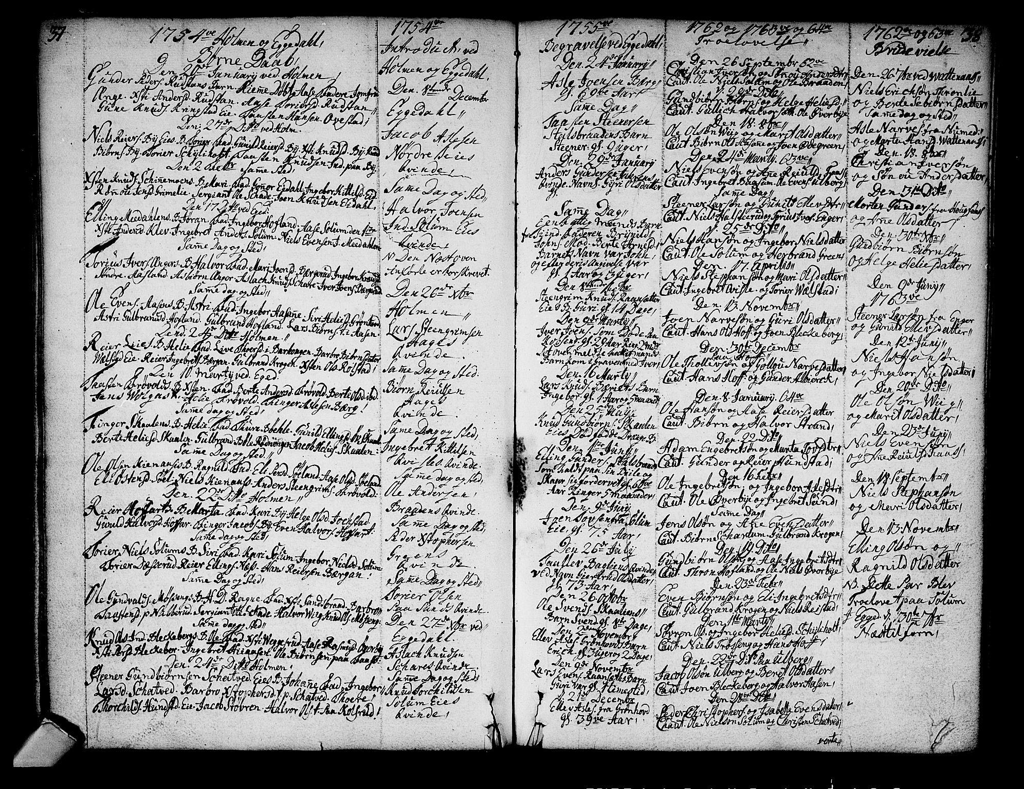 SAKO, Sigdal kirkebøker, F/Fa/L0001: Ministerialbok nr. I 1, 1722-1777, s. 37-38