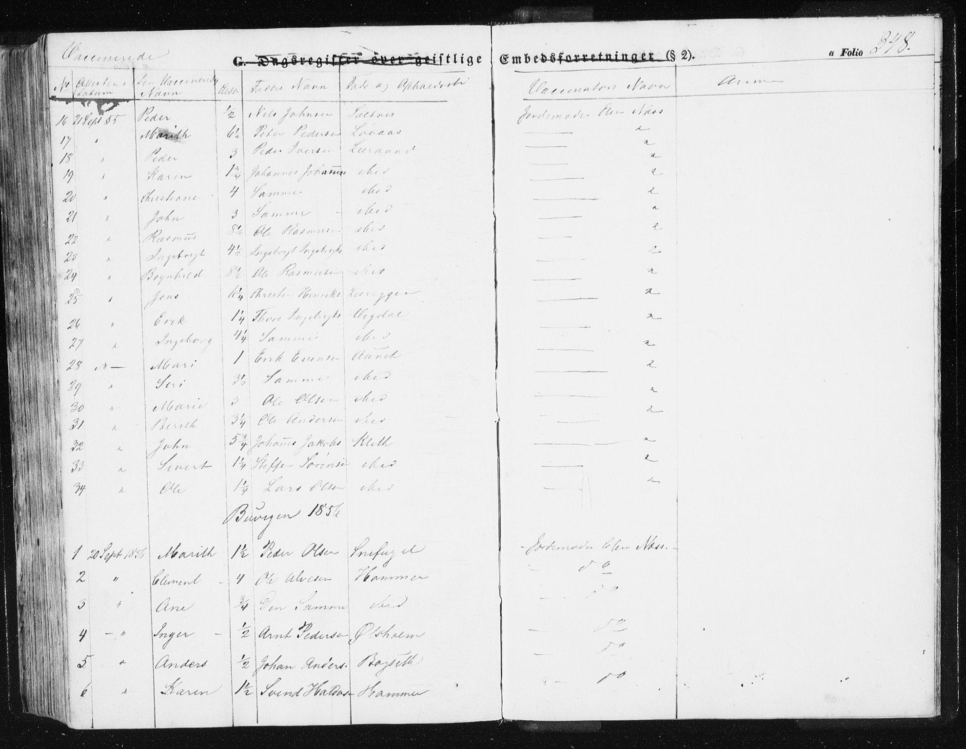 SAT, Ministerialprotokoller, klokkerbøker og fødselsregistre - Sør-Trøndelag, 612/L0376: Ministerialbok nr. 612A08, 1846-1859, s. 348