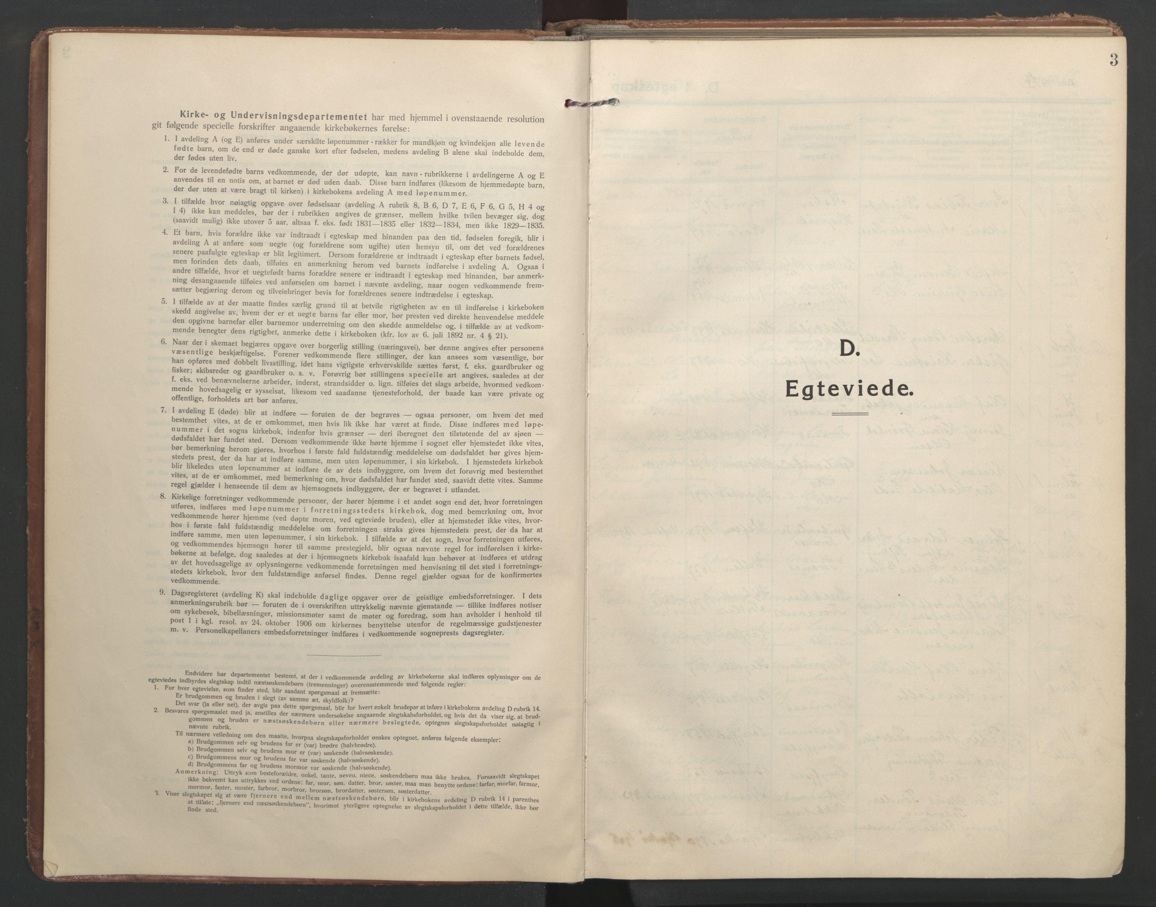 SAT, Ministerialprotokoller, klokkerbøker og fødselsregistre - Nordland, 827/L0405: Ministerialbok nr. 827A17, 1912-1925, s. 3