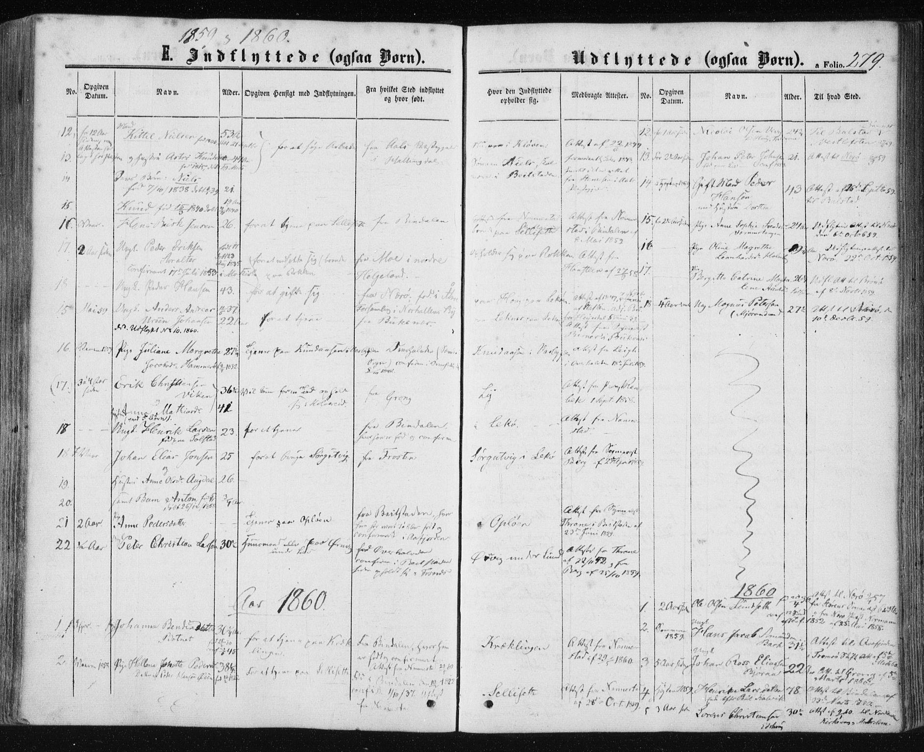 SAT, Ministerialprotokoller, klokkerbøker og fødselsregistre - Nord-Trøndelag, 780/L0641: Ministerialbok nr. 780A06, 1857-1874, s. 279