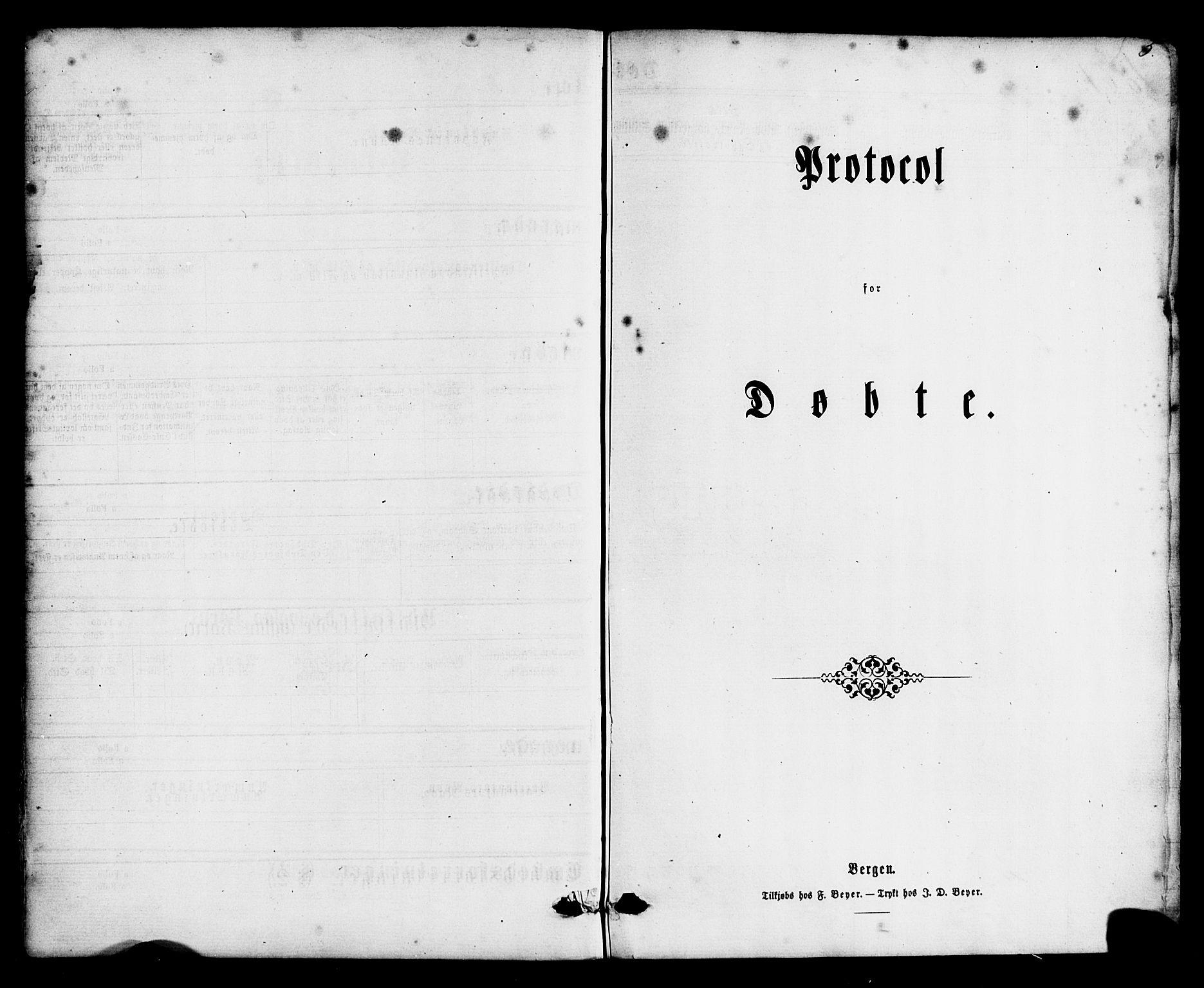 SAB, Hyllestad Sokneprestembete, Ministerialbok nr. A 1, 1861-1886, s. 3