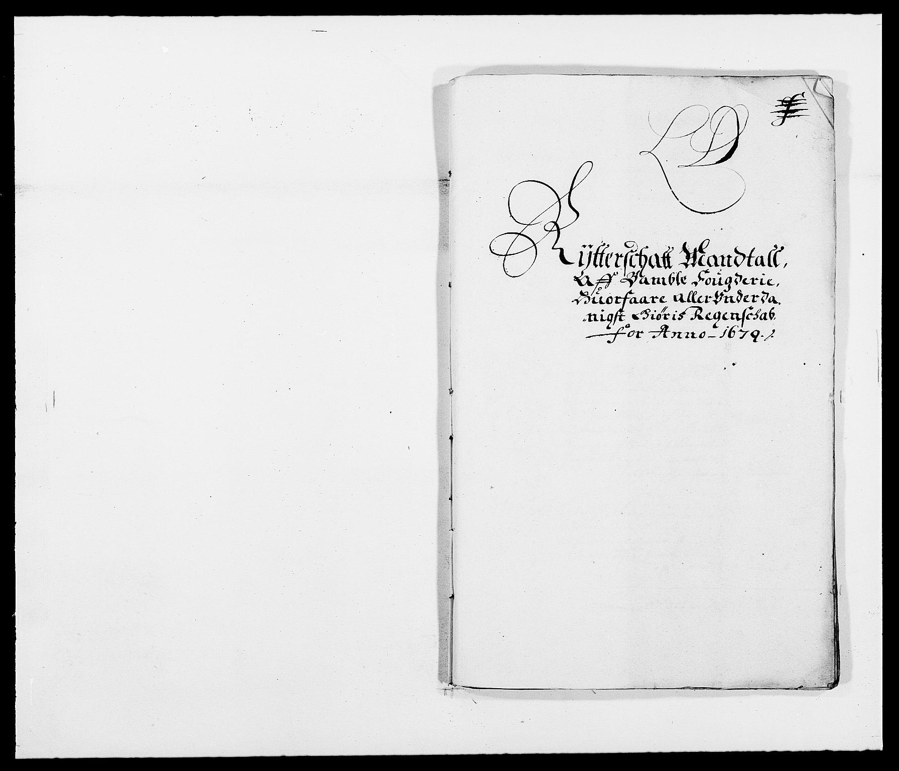 RA, Rentekammeret inntil 1814, Reviderte regnskaper, Fogderegnskap, R34/L2044: Fogderegnskap Bamble, 1678-1679, s. 372
