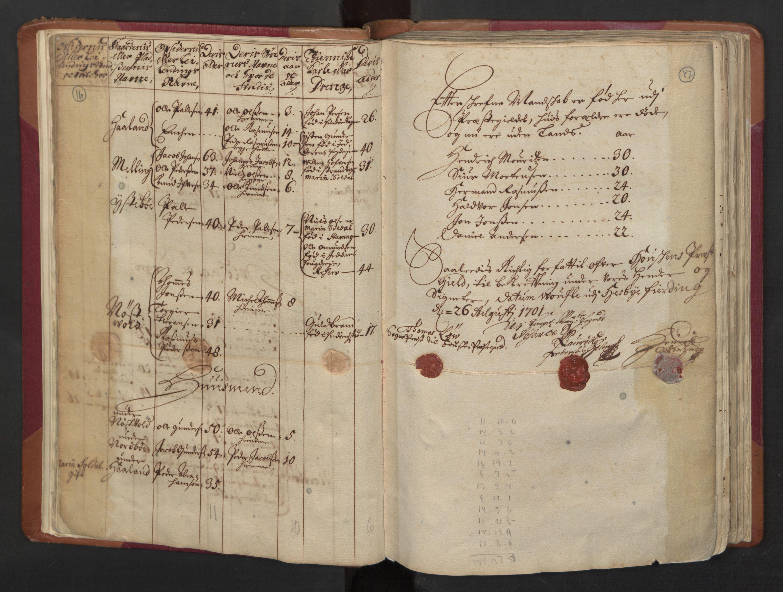 RA, Manntallet 1701, nr. 5: Ryfylke fogderi, 1701, s. 16-17