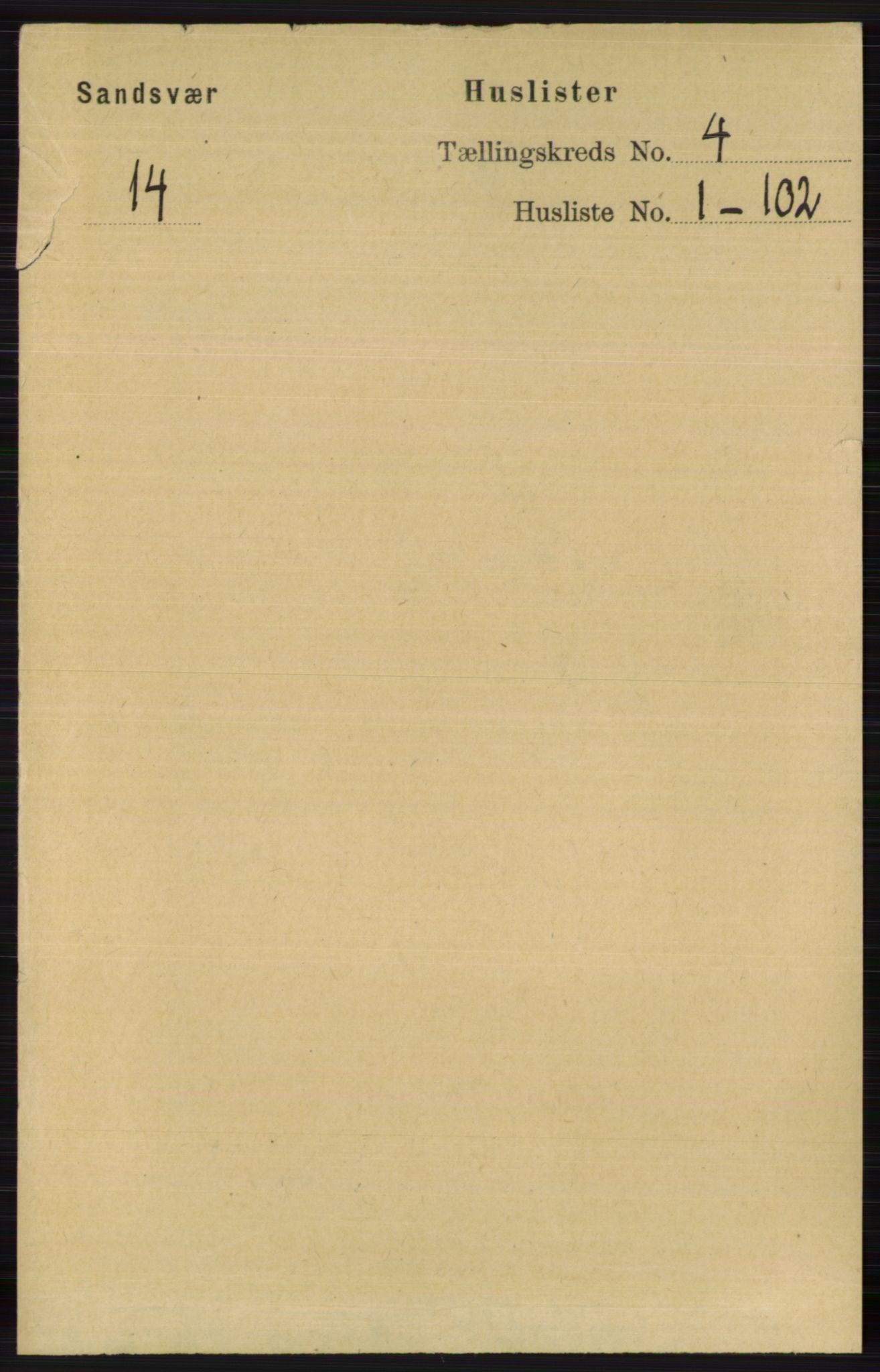 RA, Folketelling 1891 for 0629 Sandsvær herred, 1891, s. 1733