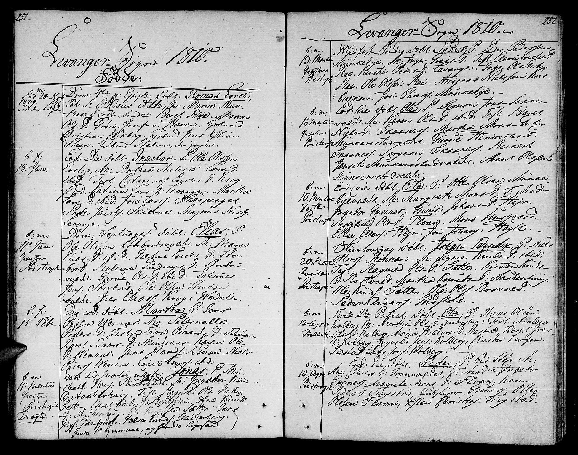 SAT, Ministerialprotokoller, klokkerbøker og fødselsregistre - Nord-Trøndelag, 717/L0145: Ministerialbok nr. 717A03 /3, 1810-1815, s. 251-252