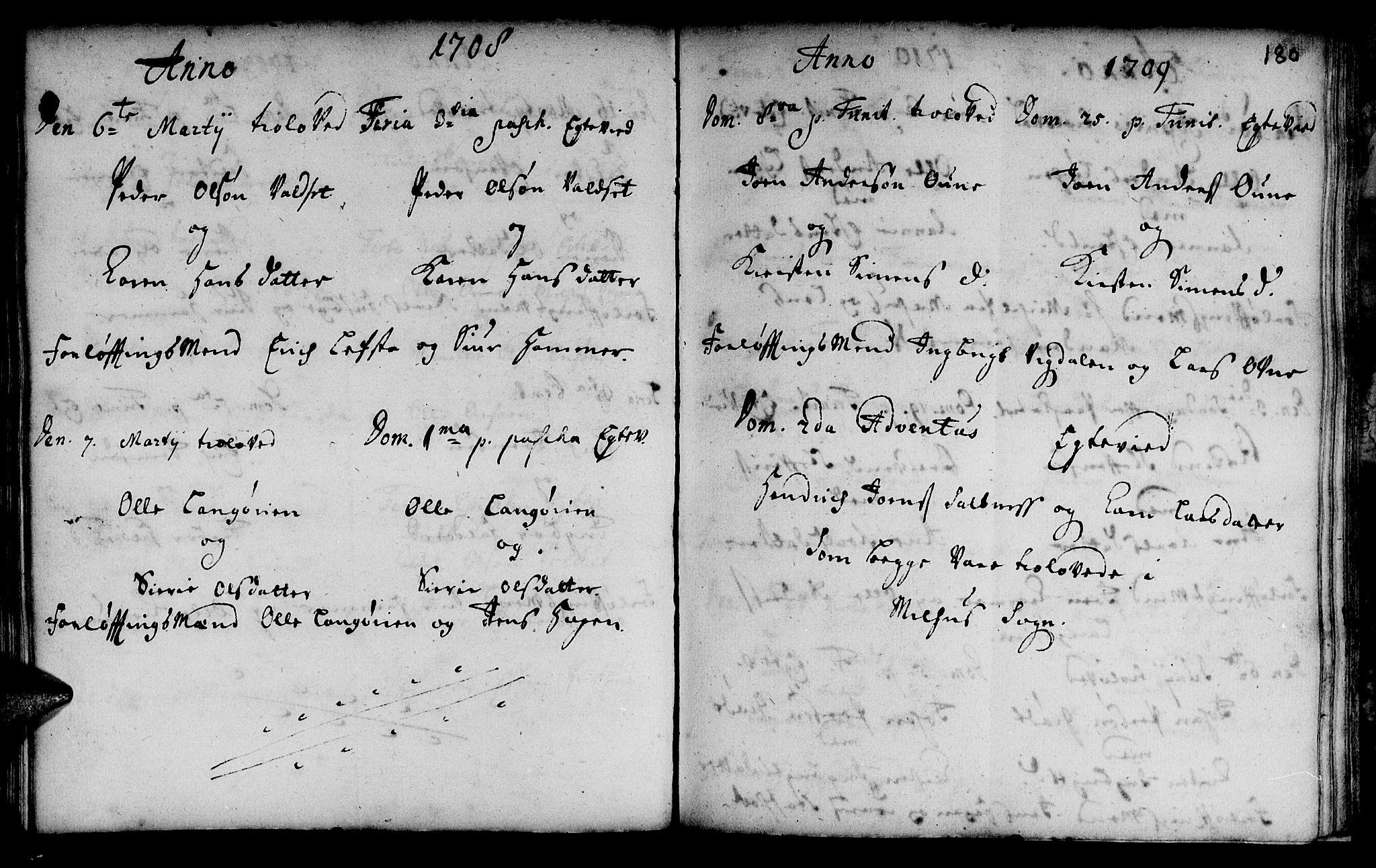 SAT, Ministerialprotokoller, klokkerbøker og fødselsregistre - Sør-Trøndelag, 666/L0783: Ministerialbok nr. 666A01, 1702-1753, s. 180