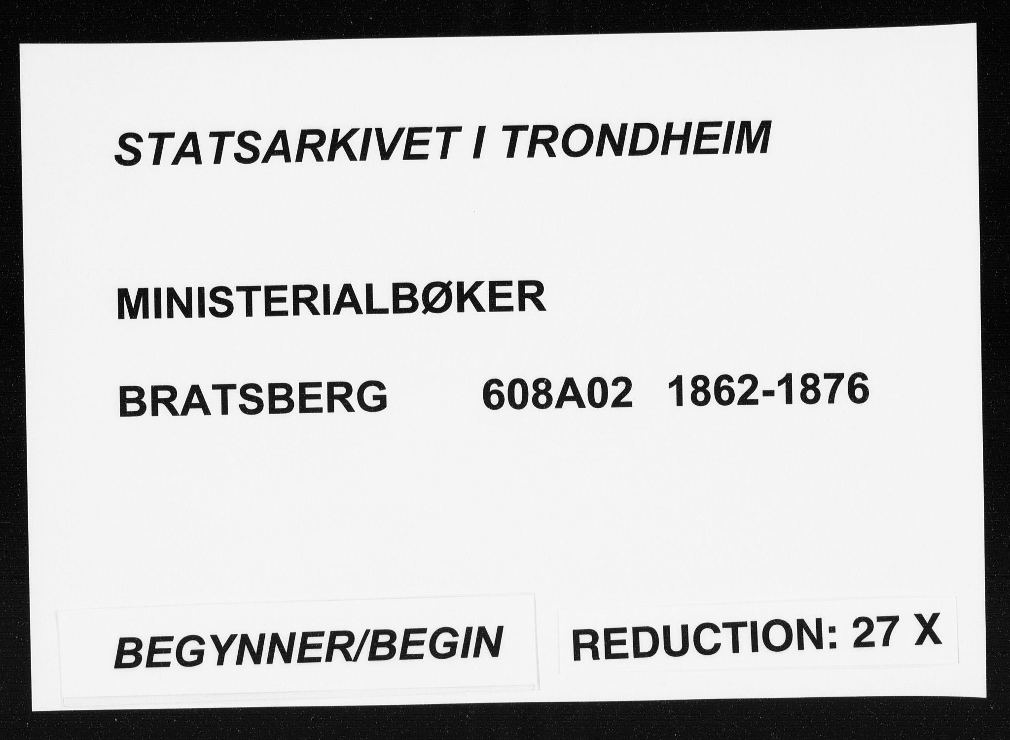 SAT, Ministerialprotokoller, klokkerbøker og fødselsregistre - Sør-Trøndelag, 608/L0333: Ministerialbok nr. 608A02, 1862-1876