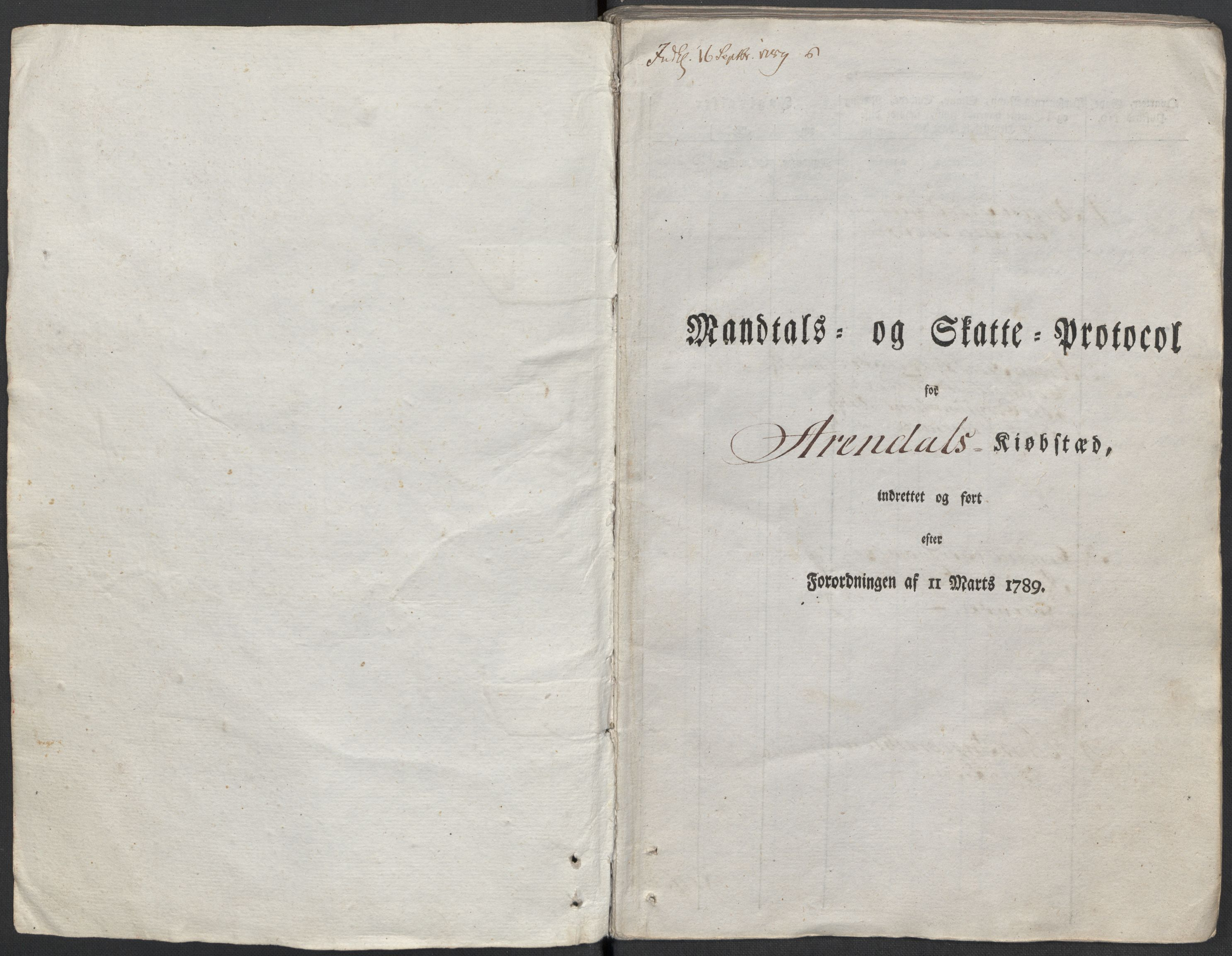 RA, Rentekammeret inntil 1814, Reviderte regnskaper, Mindre regnskaper, Rf/Rfe/L0002: Arendal. Bergen, 1789, s. 341