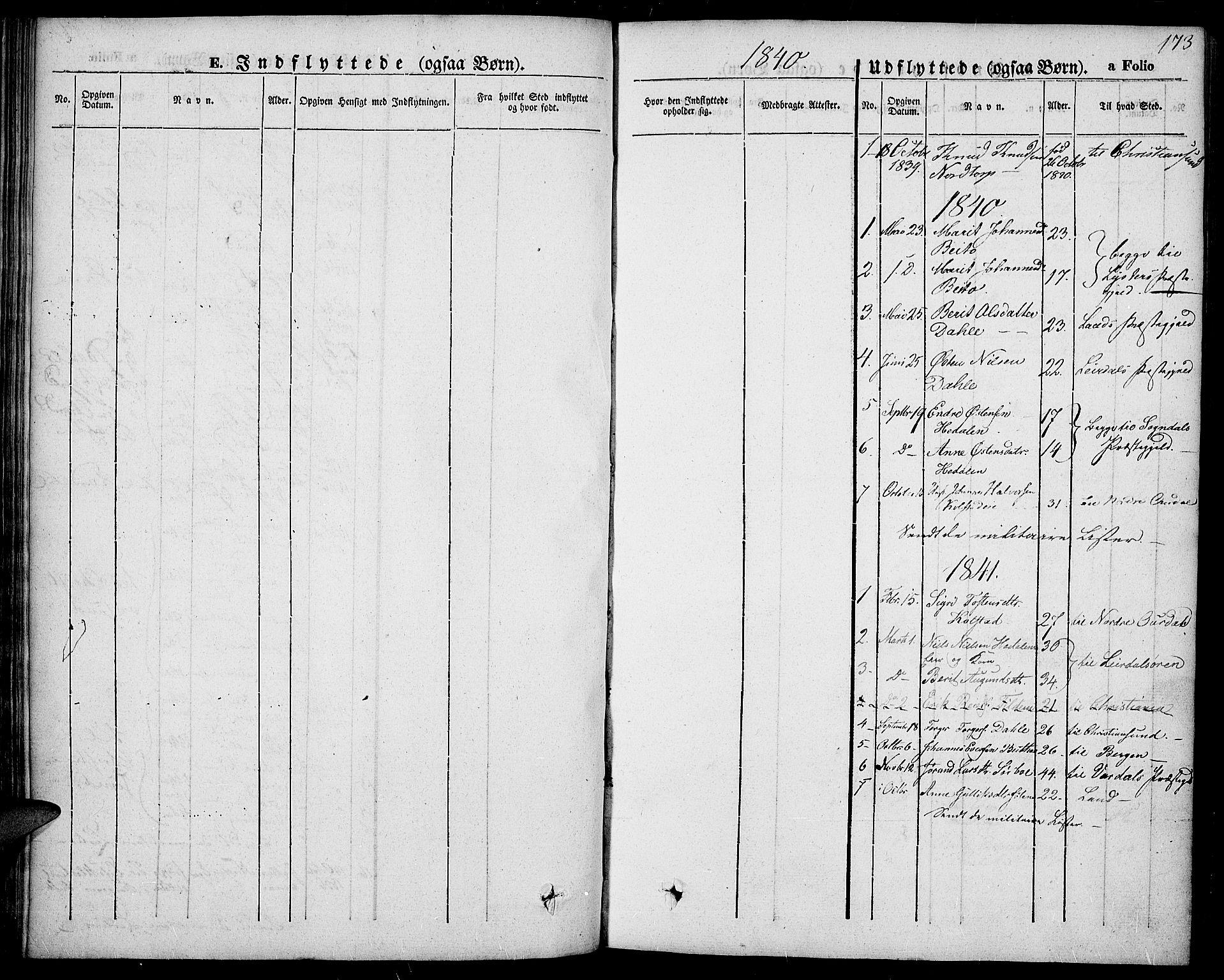SAH, Slidre prestekontor, Ministerialbok nr. 4, 1831-1848, s. 173