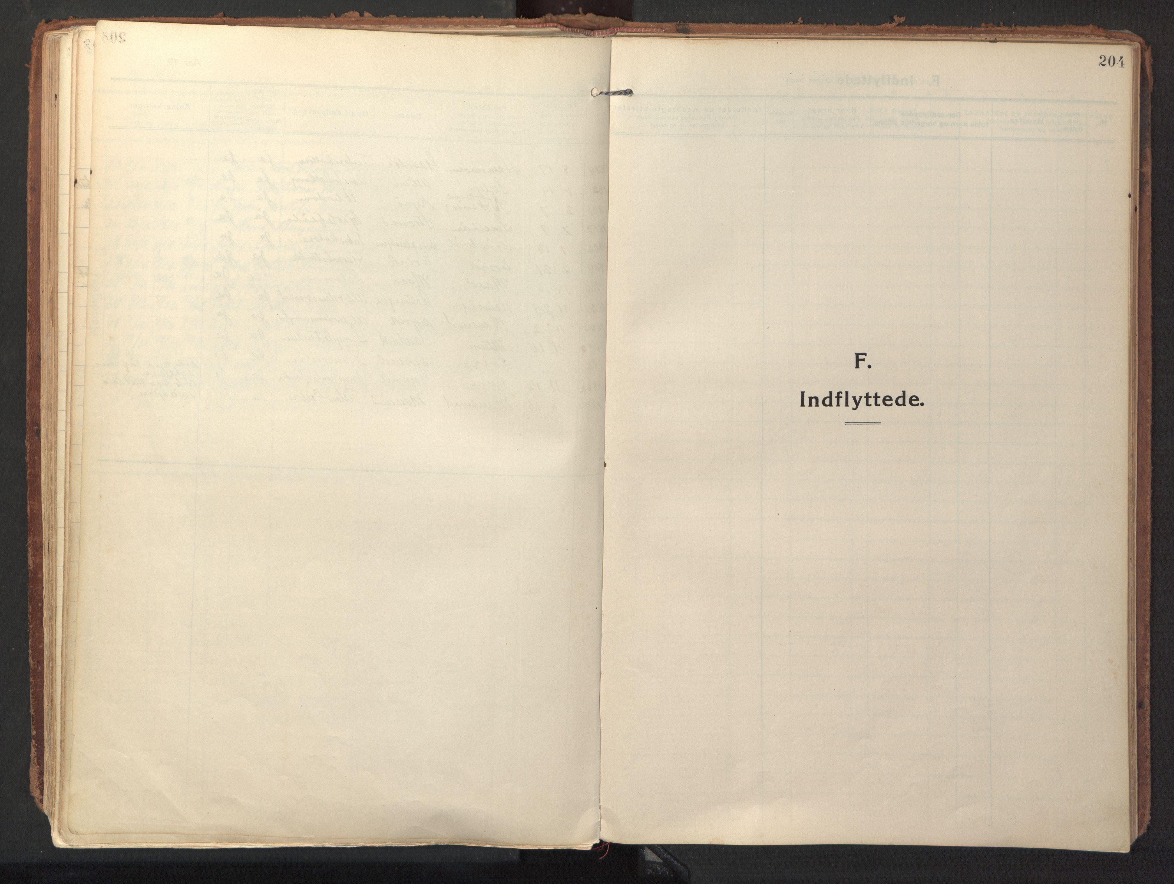 SAT, Ministerialprotokoller, klokkerbøker og fødselsregistre - Sør-Trøndelag, 640/L0581: Ministerialbok nr. 640A06, 1910-1924, s. 204