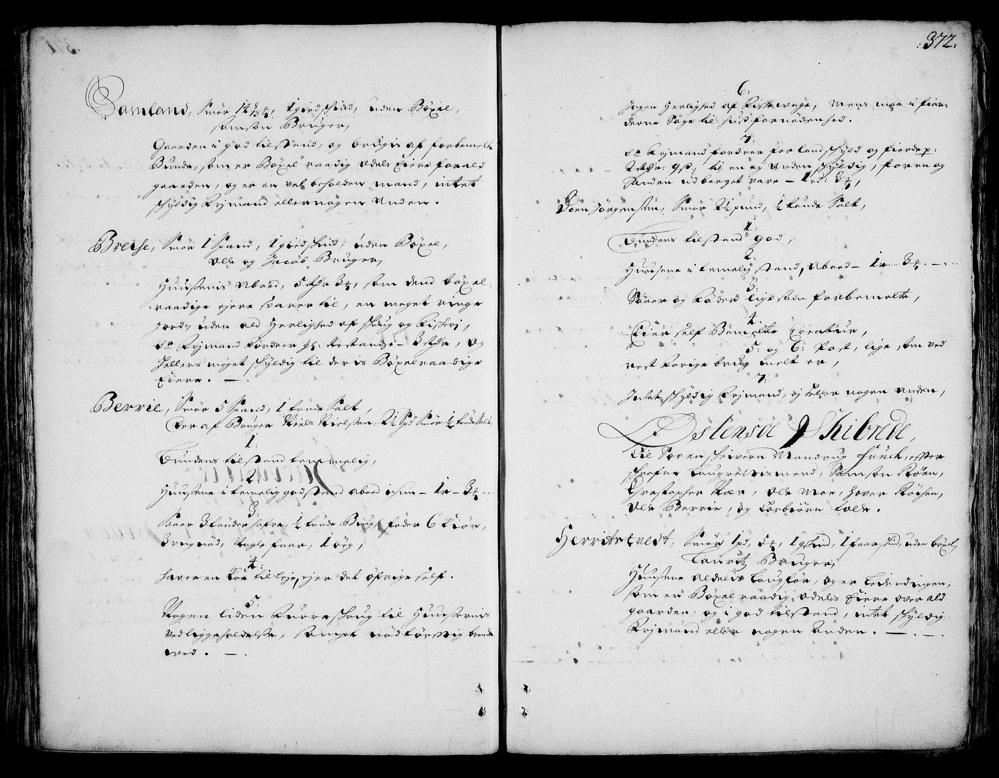 RA, Rentekammeret inntil 1814, Realistisk ordnet avdeling, On/L0002: [Jj 3]: Besiktigelsesforretninger over Halsnøy klosters gods, 1659-1703, s. 371b-372a