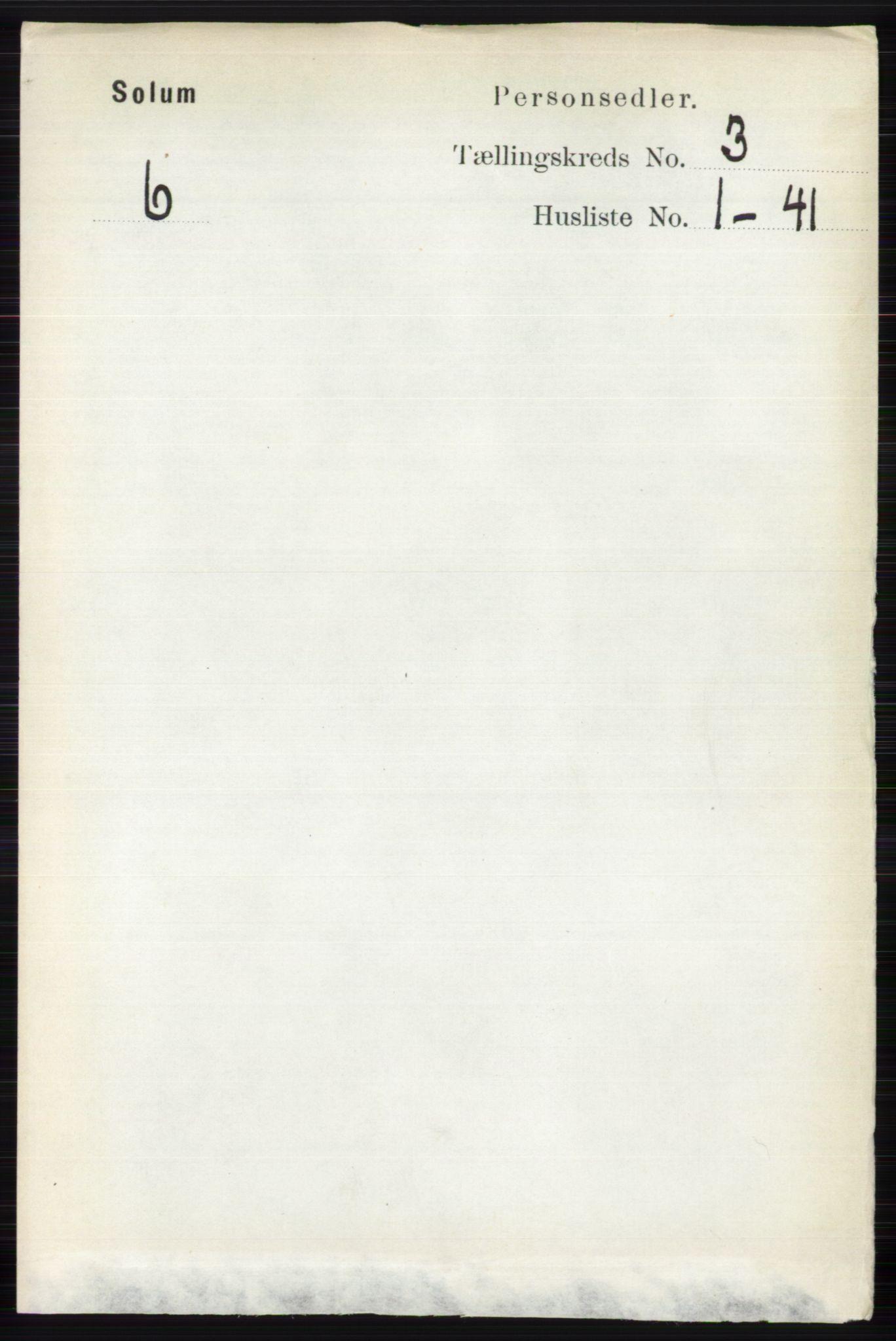 RA, Folketelling 1891 for 0818 Solum herred, 1891, s. 347