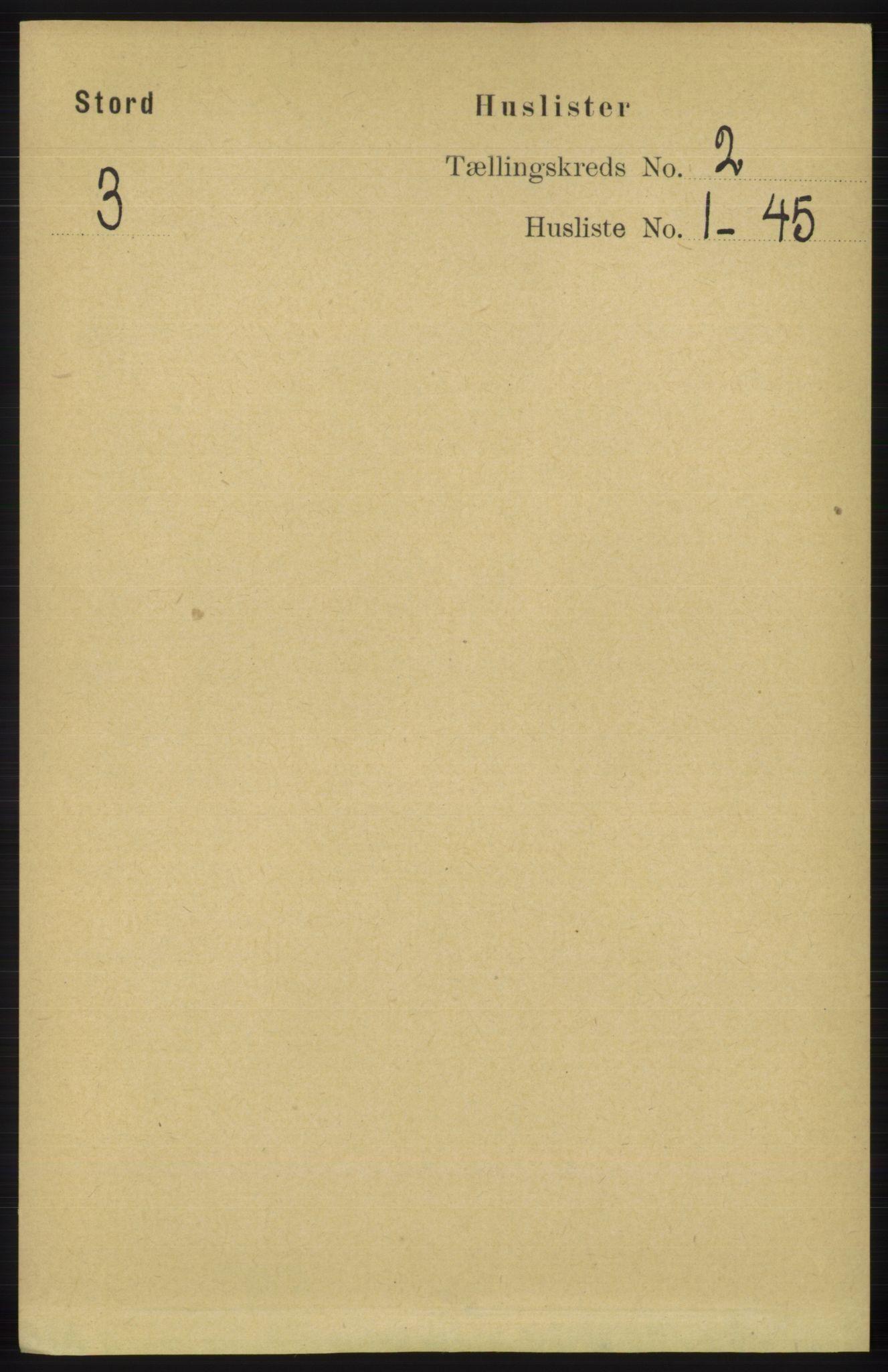 RA, Folketelling 1891 for 1221 Stord herred, 1891, s. 206