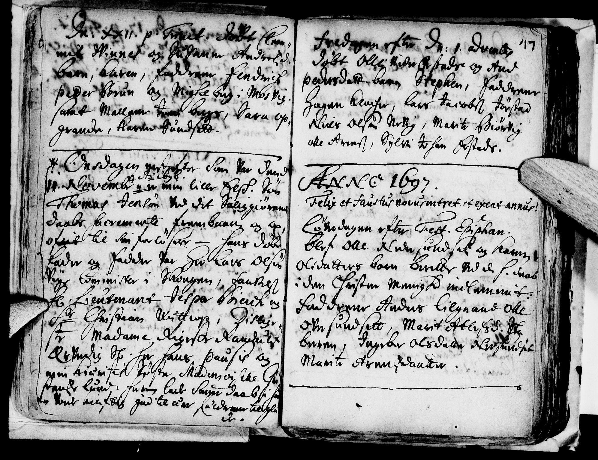 SAT, Ministerialprotokoller, klokkerbøker og fødselsregistre - Nord-Trøndelag, 722/L0214: Ministerialbok nr. 722A01, 1692-1718, s. 17