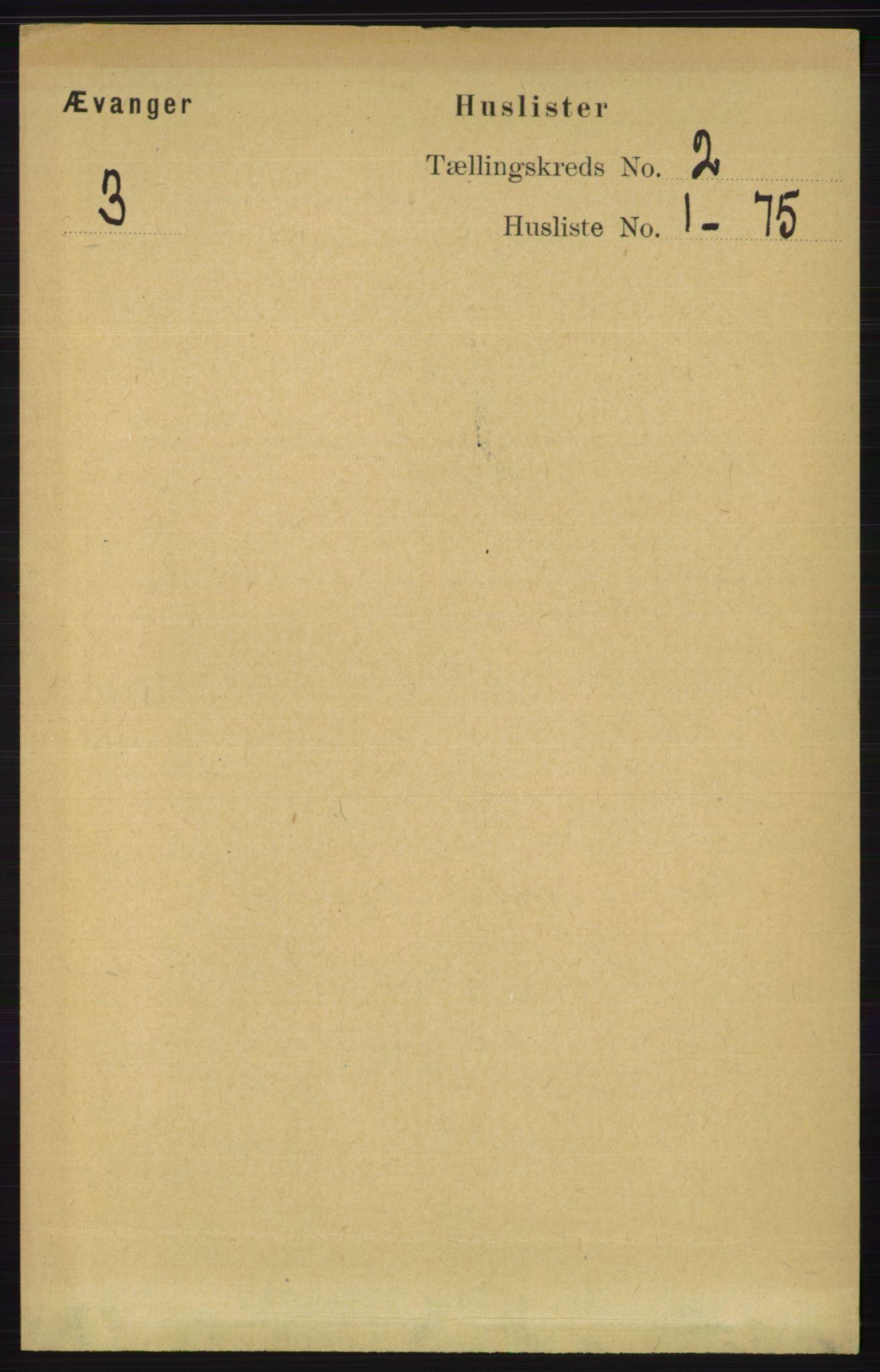 RA, Folketelling 1891 for 1237 Evanger herred, 1891, s. 254