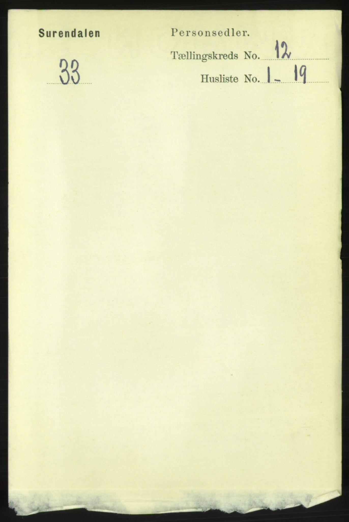 RA, Folketelling 1891 for 1566 Surnadal herred, 1891, s. 2869