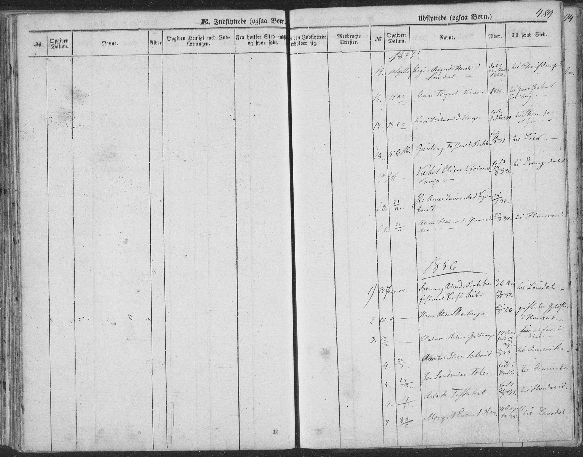SAKO, Seljord kirkebøker, F/Fa/L012b: Ministerialbok nr. I 12B, 1850-1865, s. 489