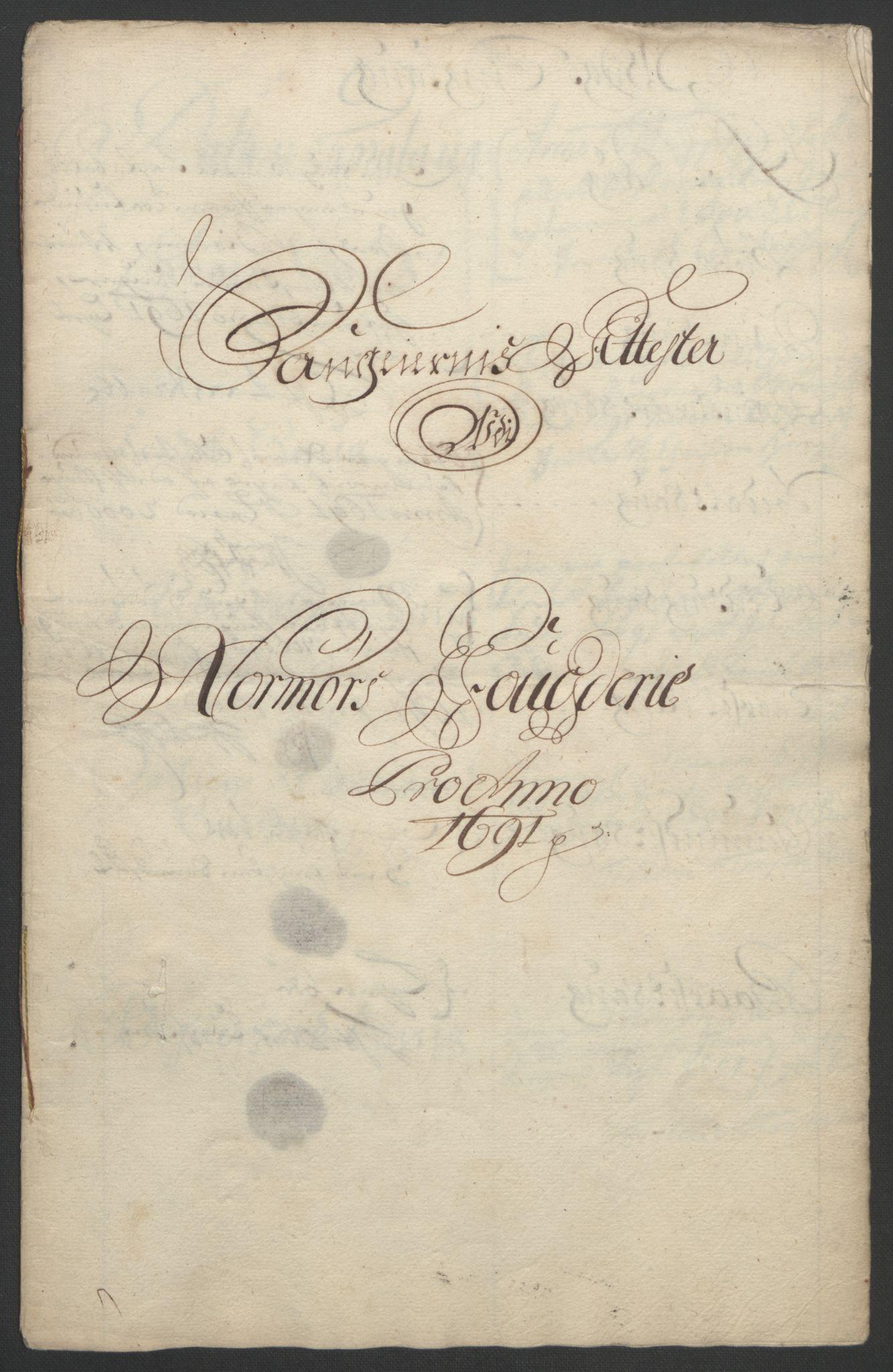 RA, Rentekammeret inntil 1814, Reviderte regnskaper, Fogderegnskap, R56/L3734: Fogderegnskap Nordmøre, 1690-1691, s. 288
