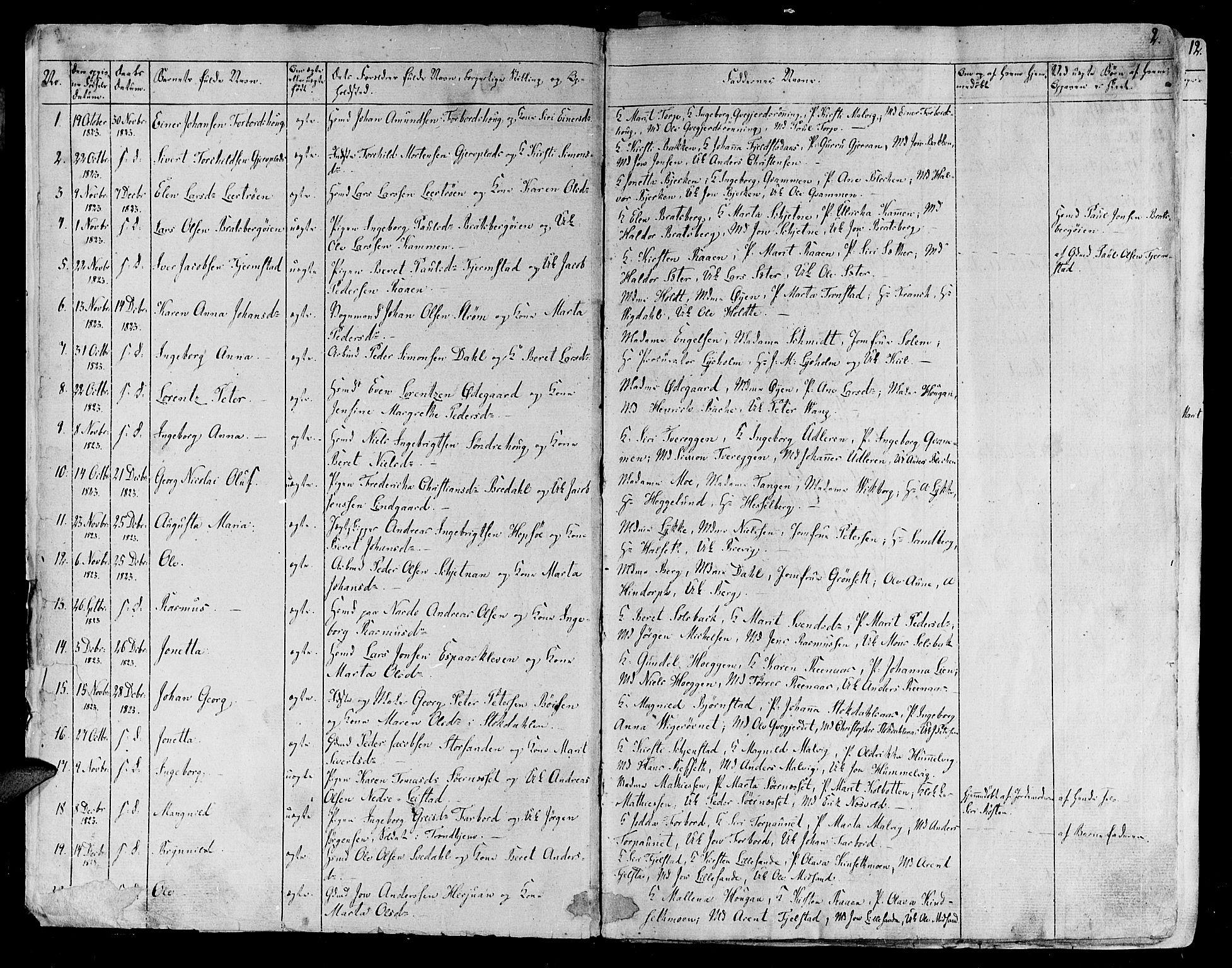 SAT, Ministerialprotokoller, klokkerbøker og fødselsregistre - Sør-Trøndelag, 606/L0286: Ministerialbok nr. 606A04 /1, 1823-1840, s. 2