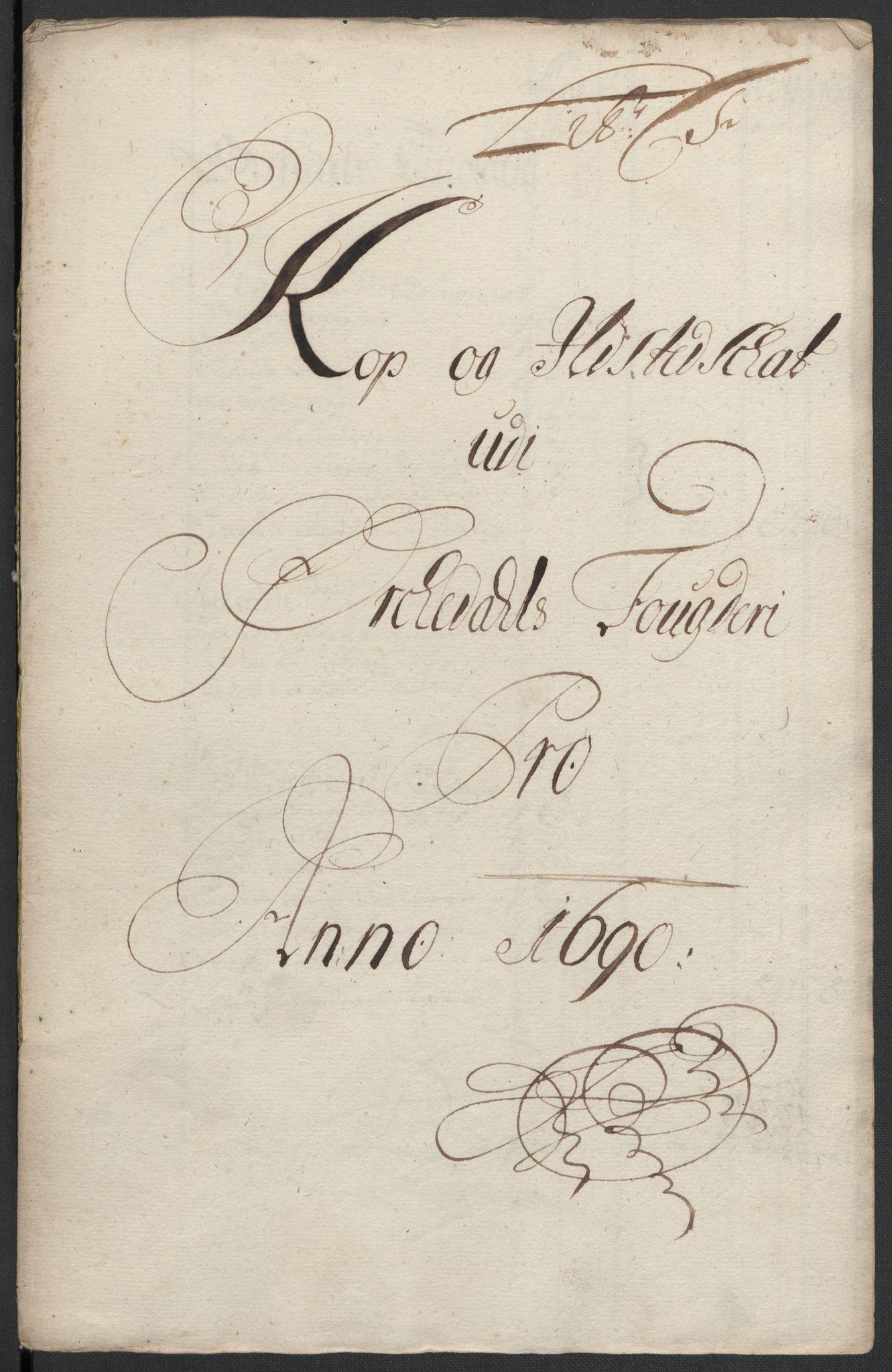 RA, Rentekammeret inntil 1814, Reviderte regnskaper, Fogderegnskap, R58/L3936: Fogderegnskap Orkdal, 1689-1690, s. 366