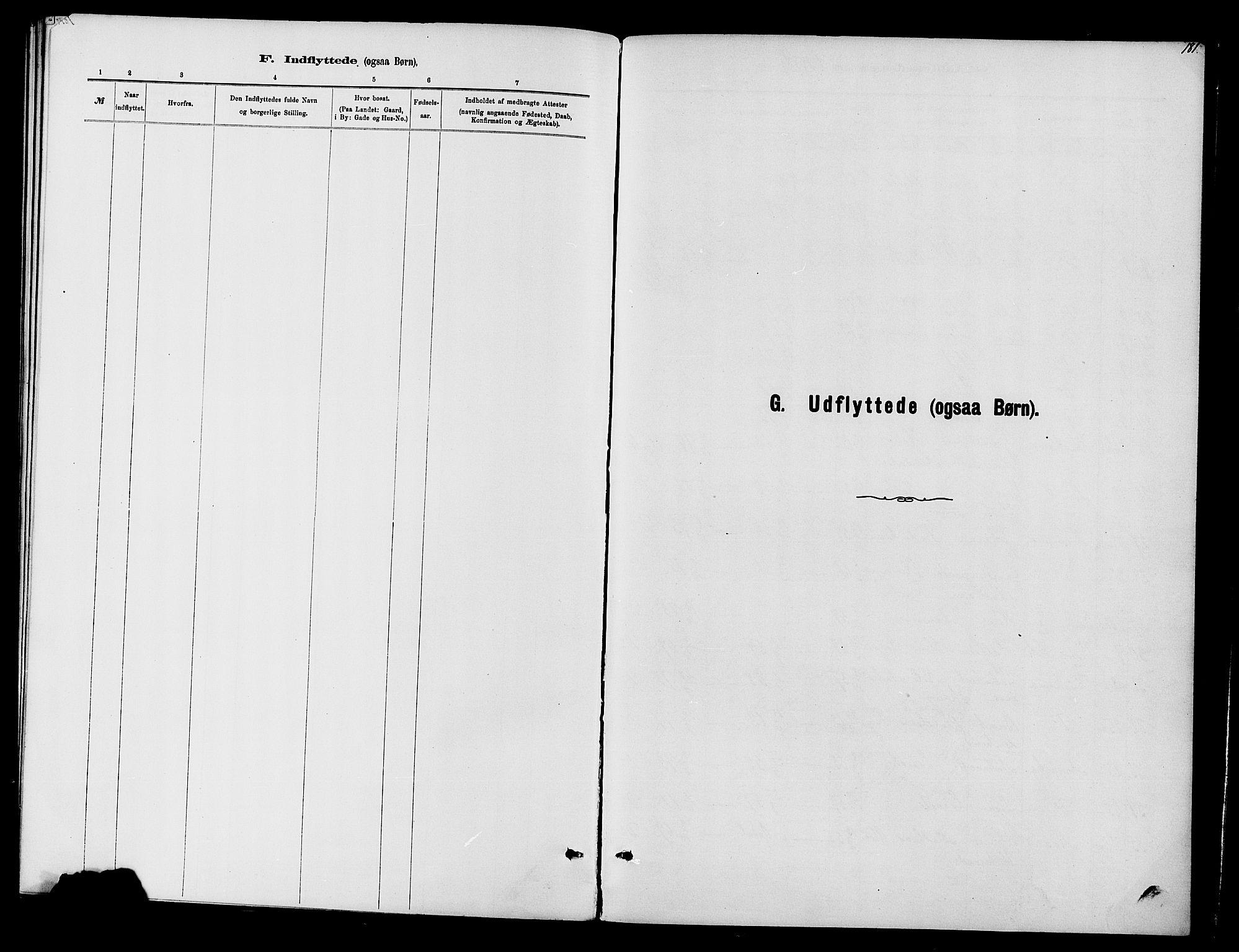 SAH, Vardal prestekontor, H/Ha/Haa/L0010: Ministerialbok nr. 10, 1878-1893, s. 181
