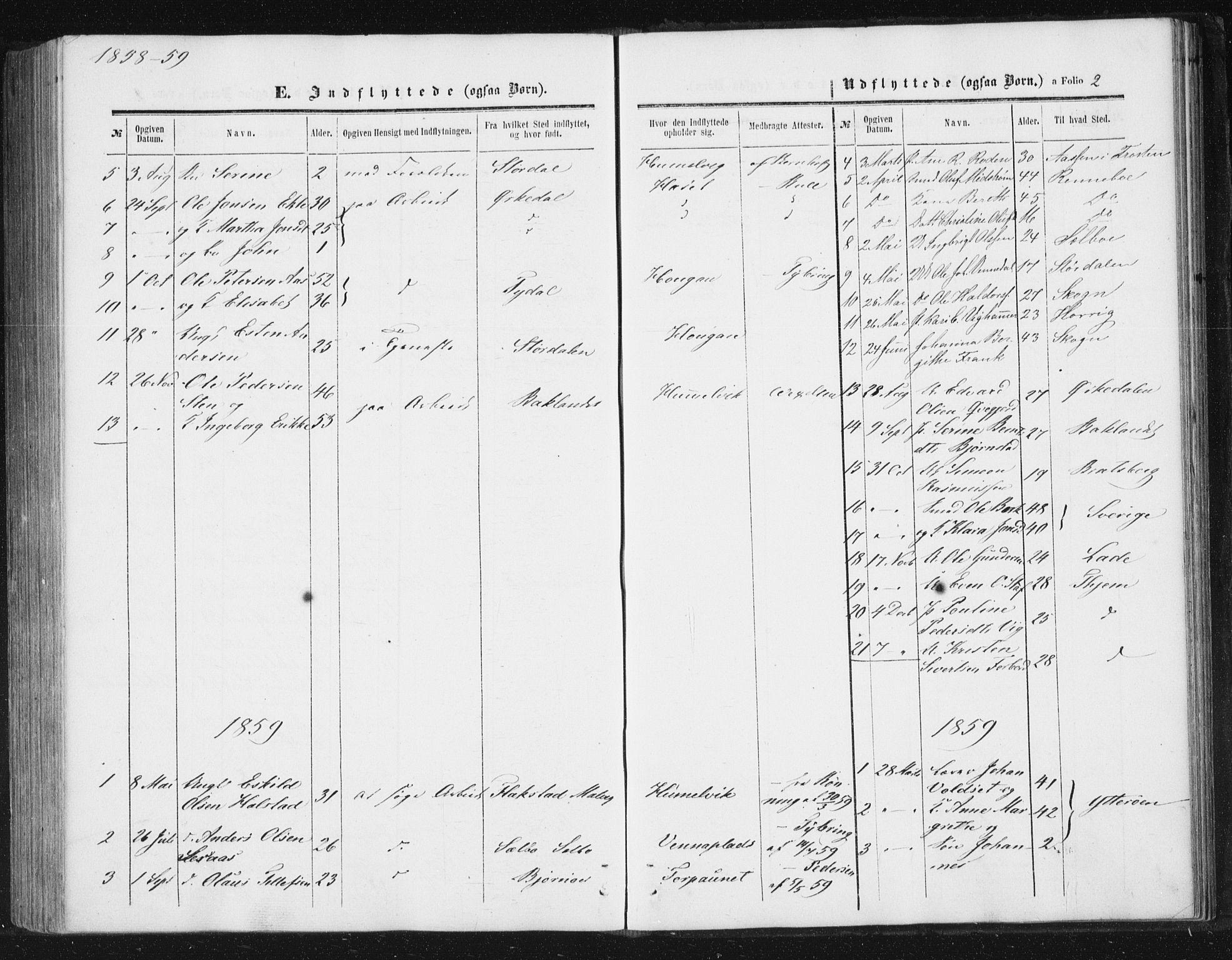 SAT, Ministerialprotokoller, klokkerbøker og fødselsregistre - Sør-Trøndelag, 616/L0408: Ministerialbok nr. 616A05, 1857-1865, s. 2