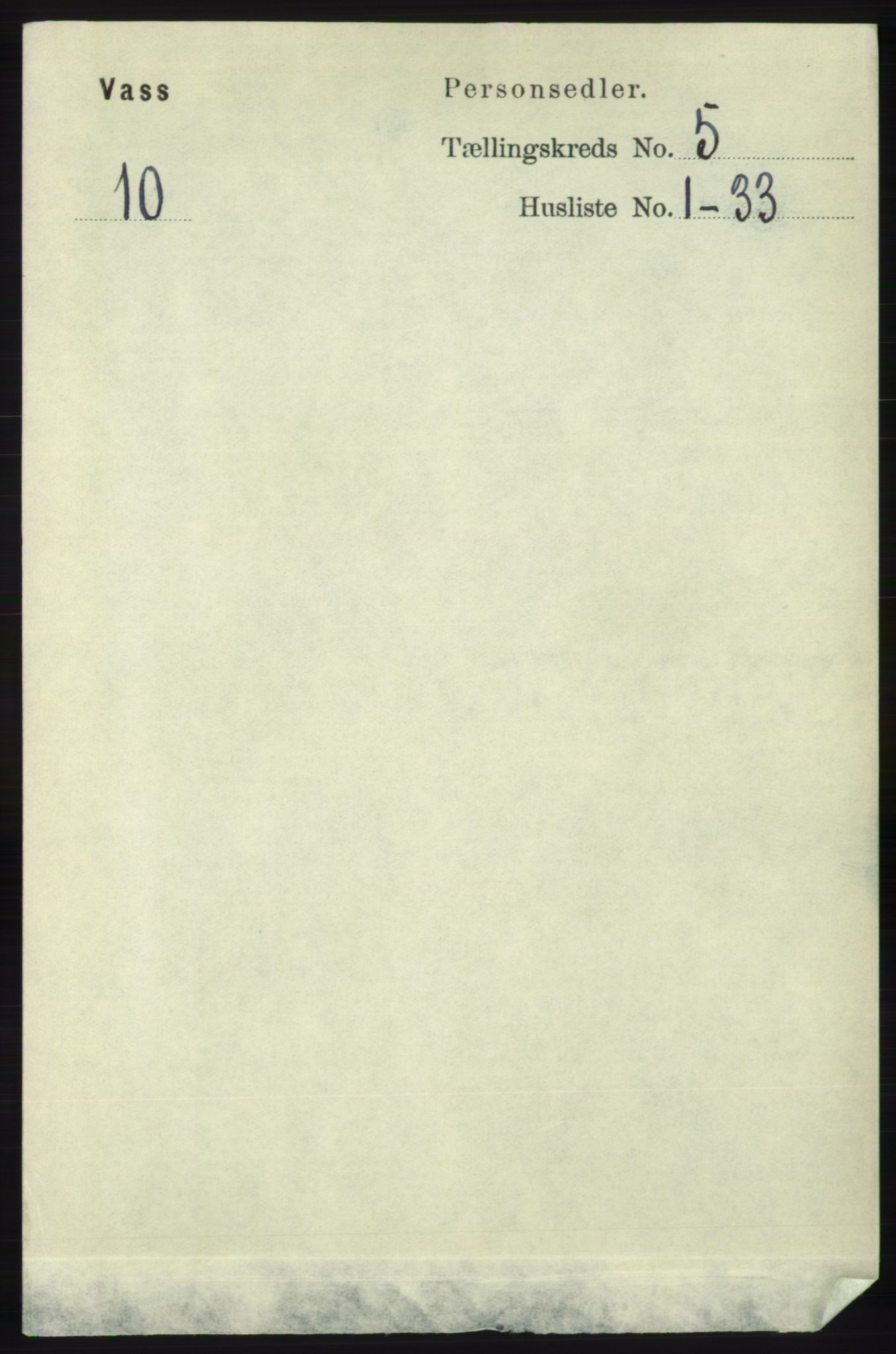 RA, Folketelling 1891 for 1155 Vats herred, 1891, s. 731