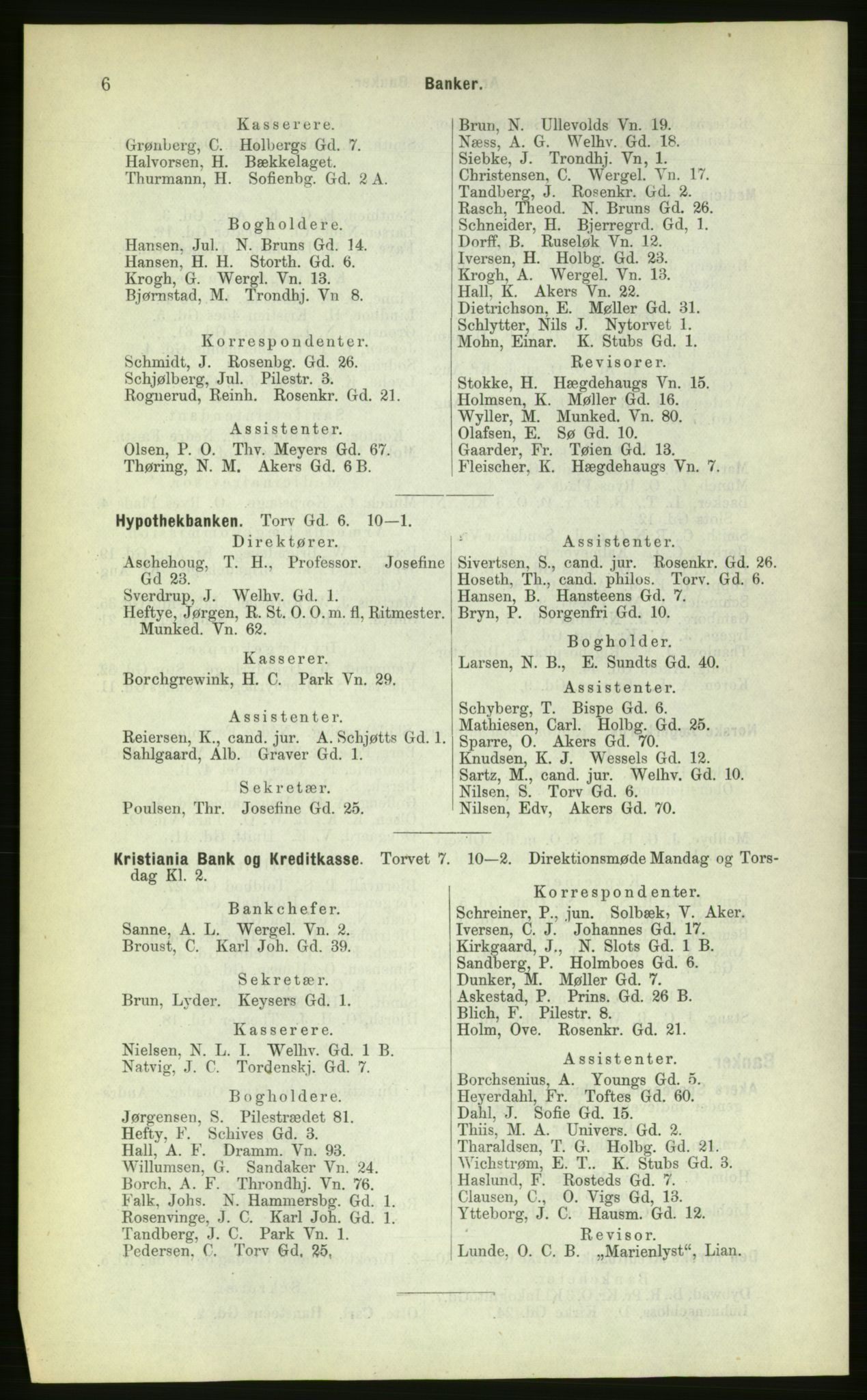 PUBL, Kristiania/Oslo adressebok, 1883, s. 6