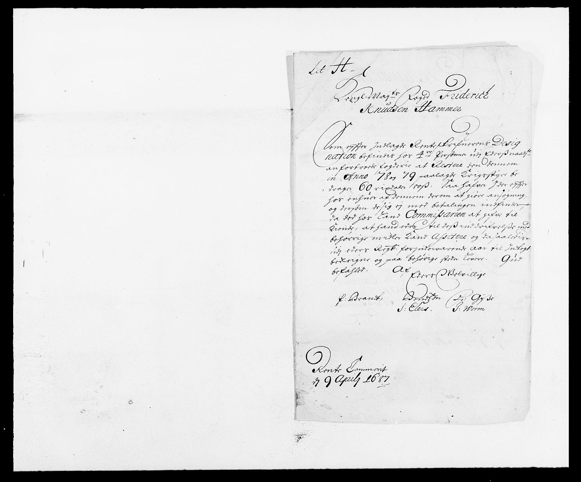 RA, Rentekammeret inntil 1814, Reviderte regnskaper, Fogderegnskap, R16/L1028: Fogderegnskap Hedmark, 1687, s. 135