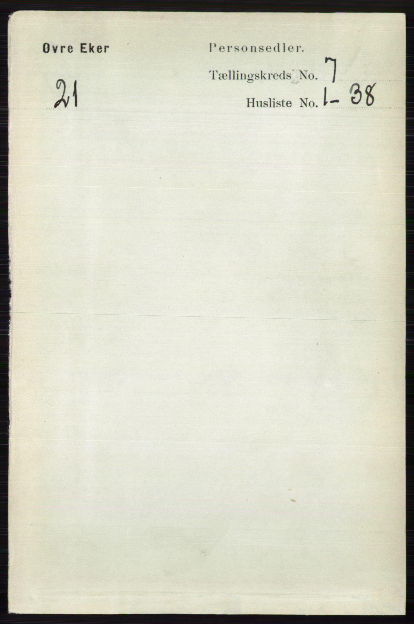RA, Folketelling 1891 for 0624 Øvre Eiker herred, 1891, s. 2666